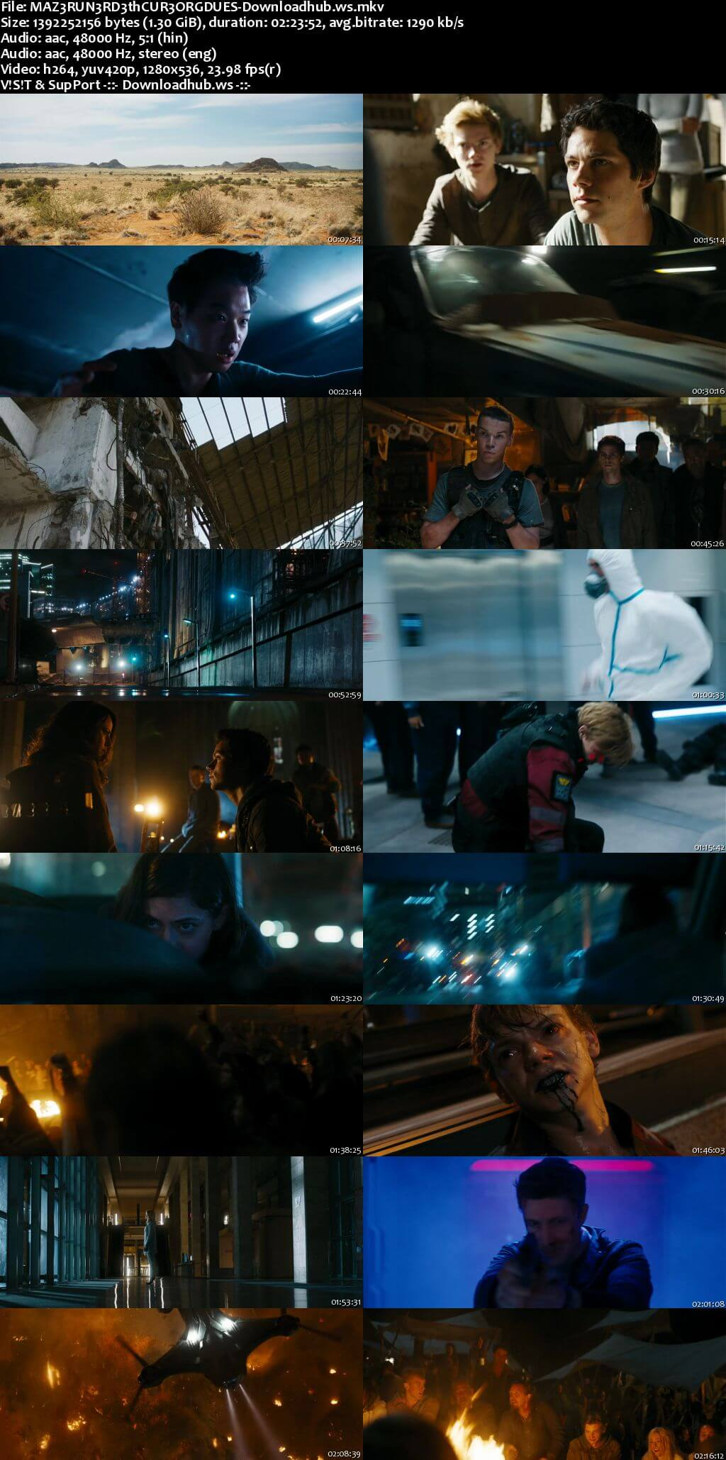 Maze Runner The Death Cure 2018 Hindi Dual Audio 720p BluRay Free Download