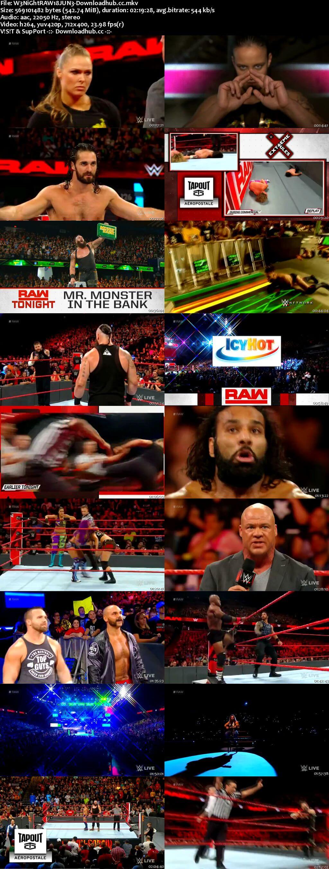 WWE Monday Night Raw 18 June 2018 480p HDTV Download