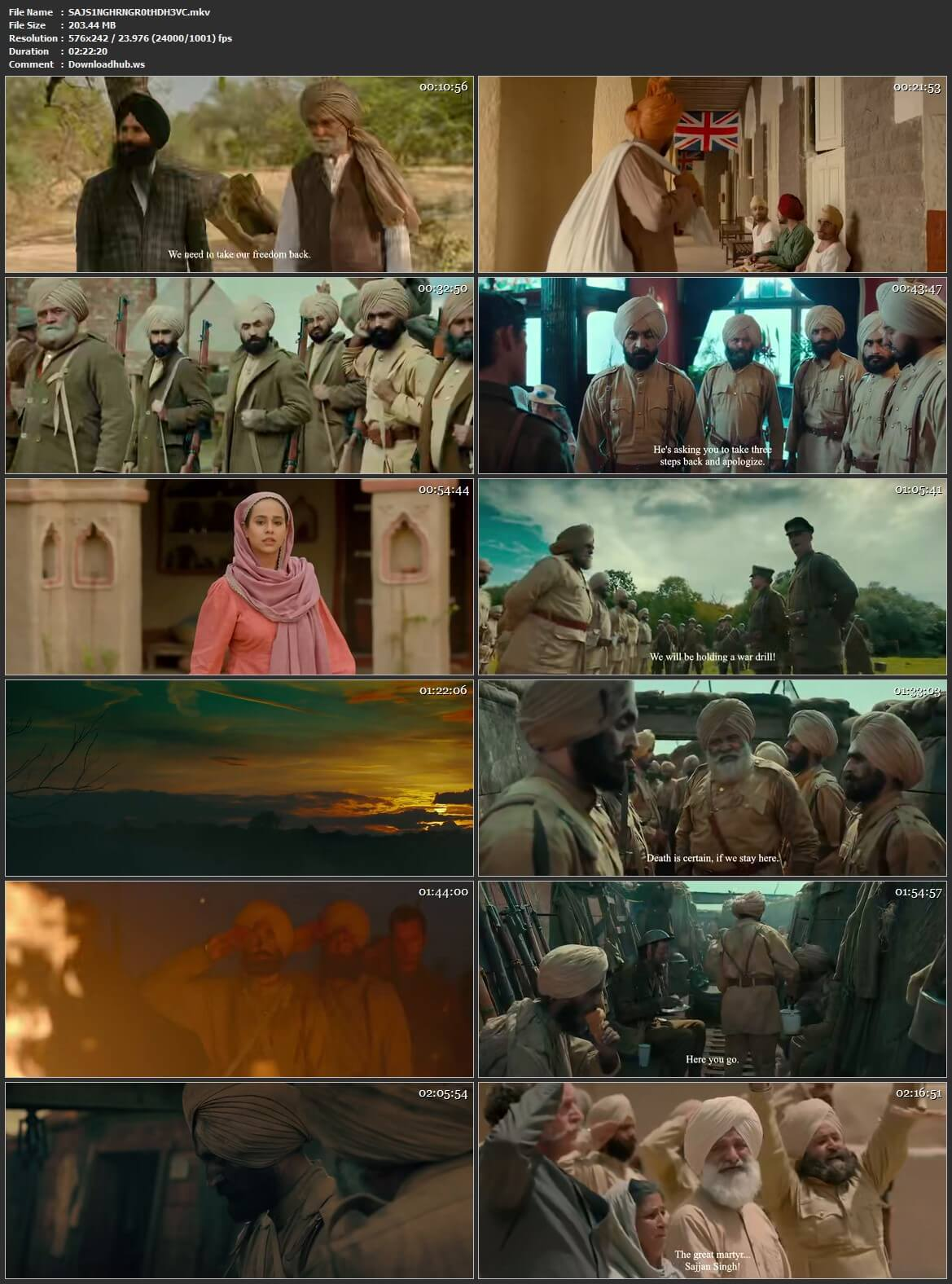 Sajjan Singh Rangroot 2018 Punjabi HEVC Mobile HDRip HC ESubs