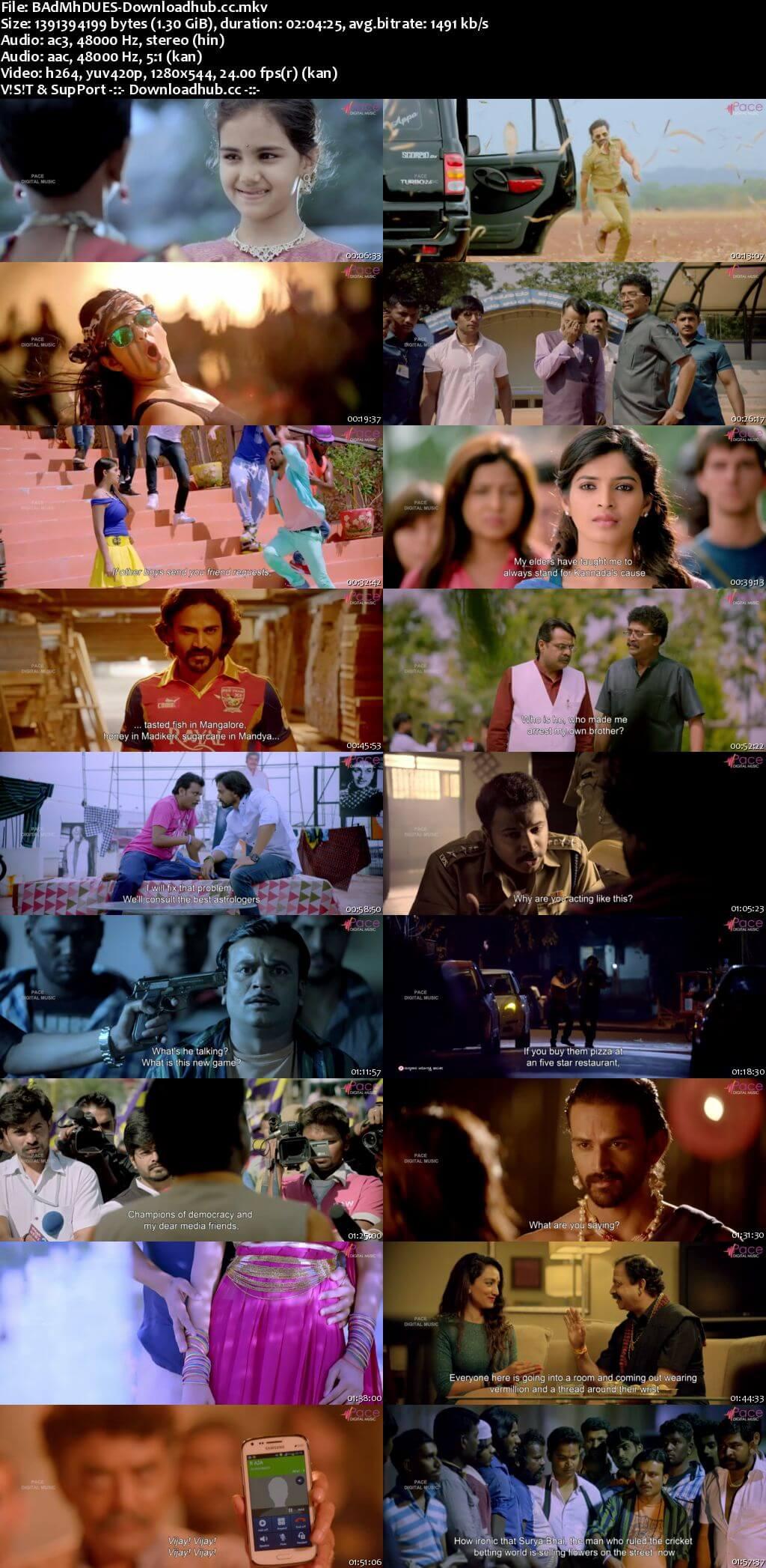 Badmaash 2016 UNCUT Hindi Dual Audio 720p HDRip Free Download