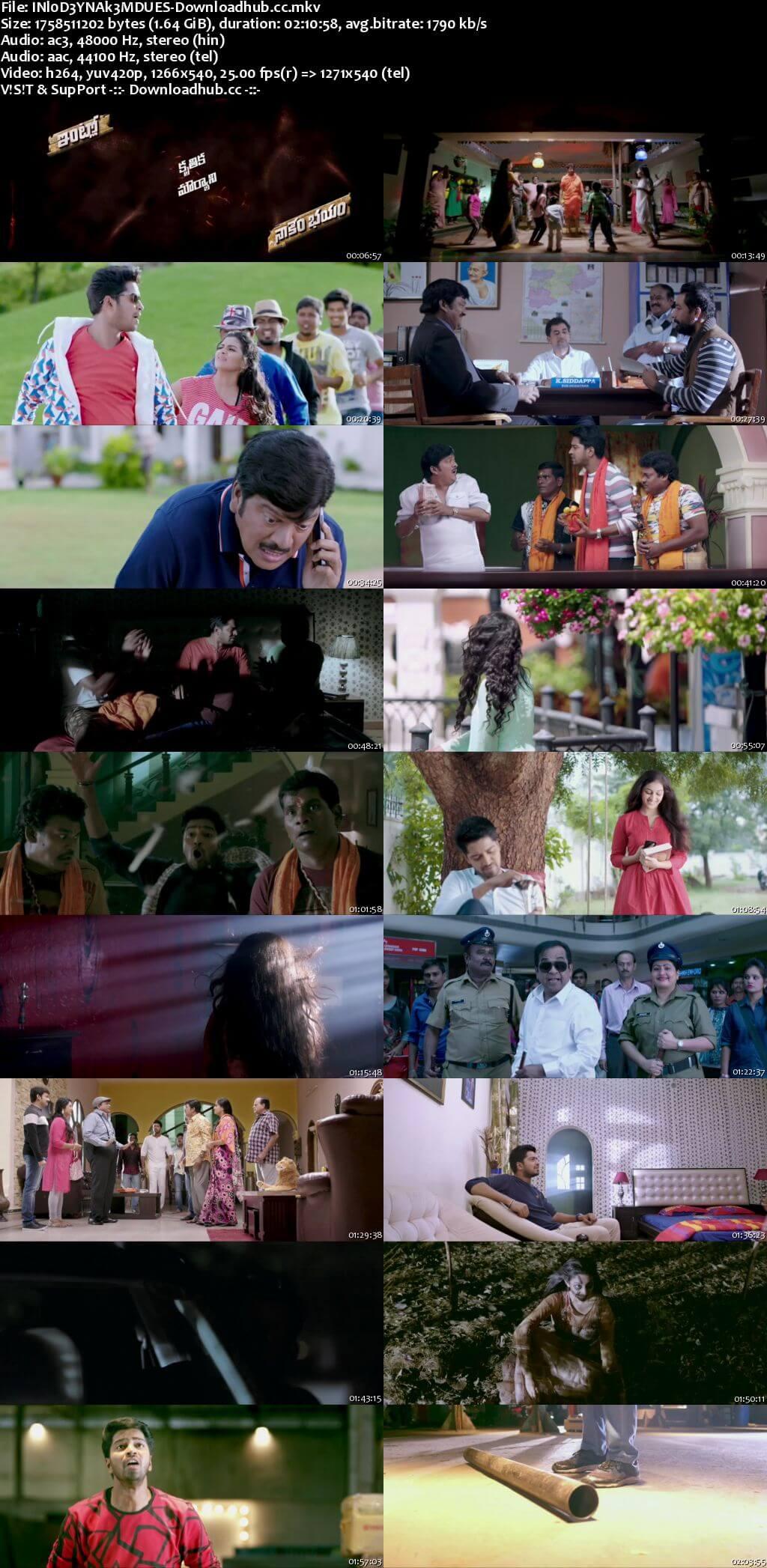Intlo Dayyam Nakemi Bhayam 2016 UNCUT Hindi Dual Audio 720p HDRip Free Download