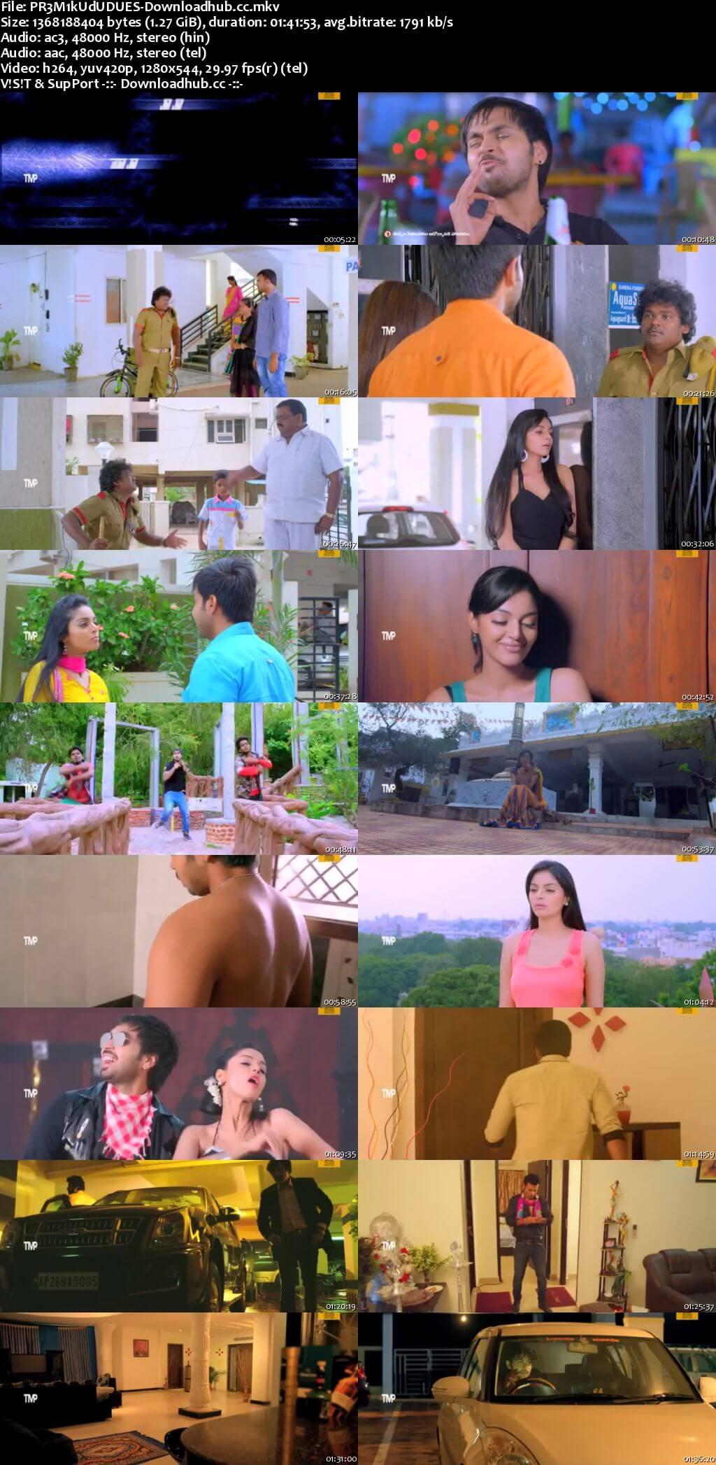 Premikudu 2016 Dual Audio 720p UNCUT HDRip [Hindi - Telugu]