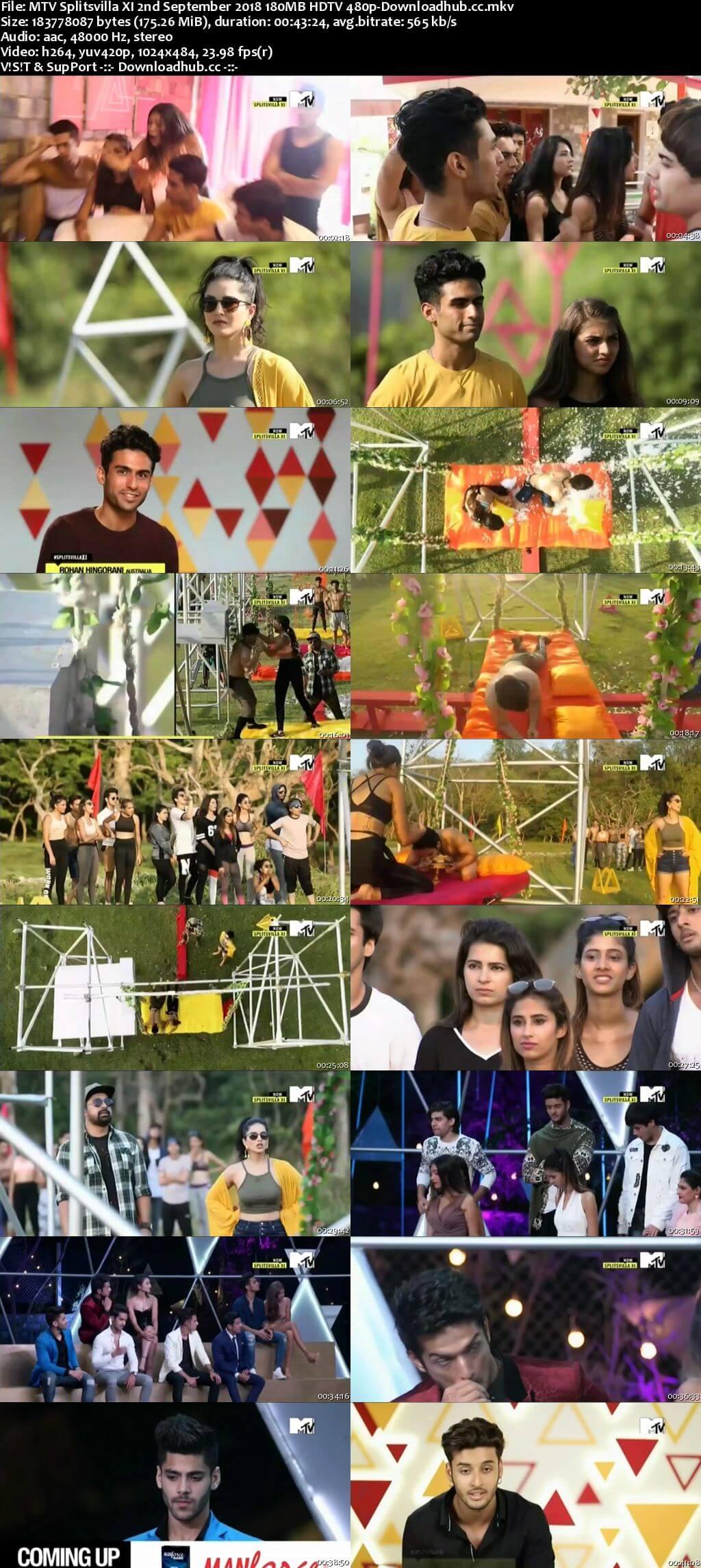 MTV Splitsvilla XI 2nd September 2018 180MB HDTV 480p