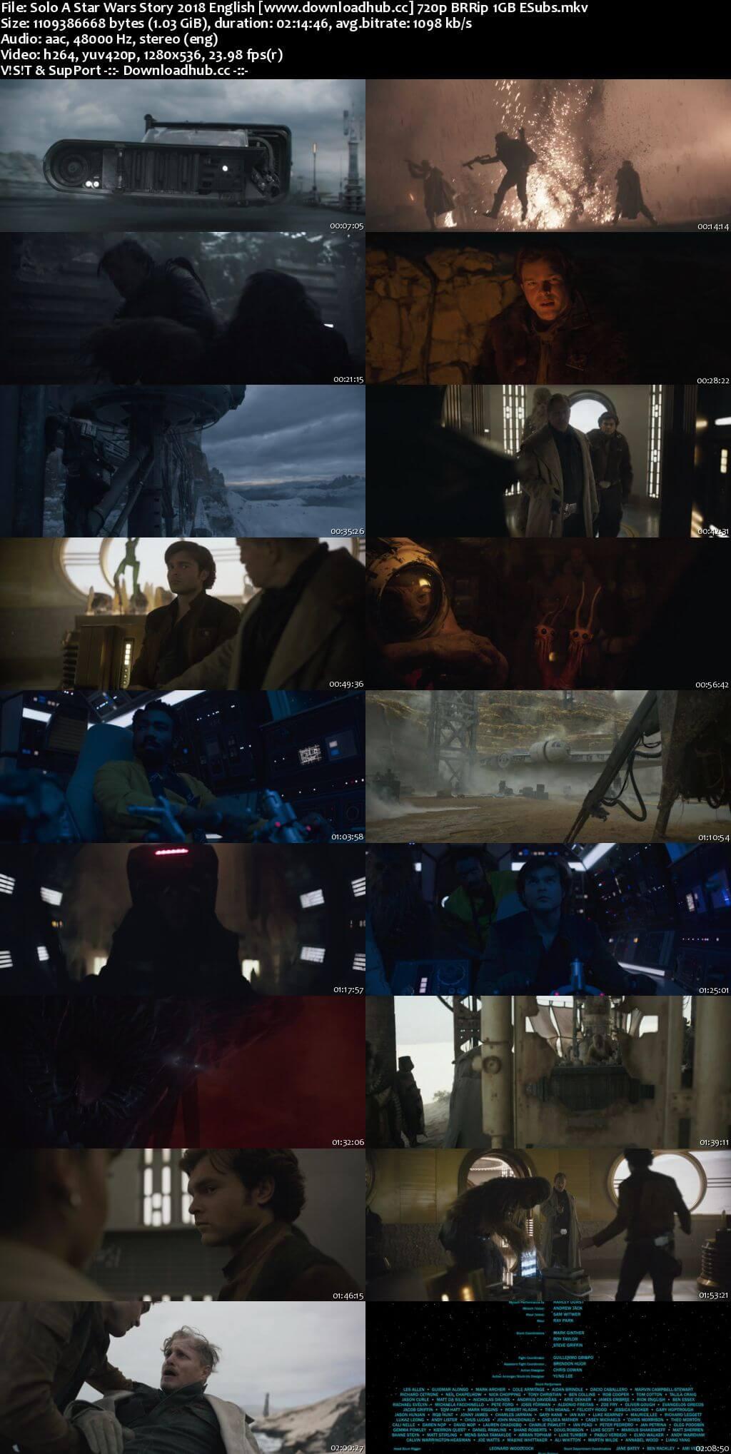 Solo A Star Wars Story 2018 English 720p BRRip 1GB ESubs