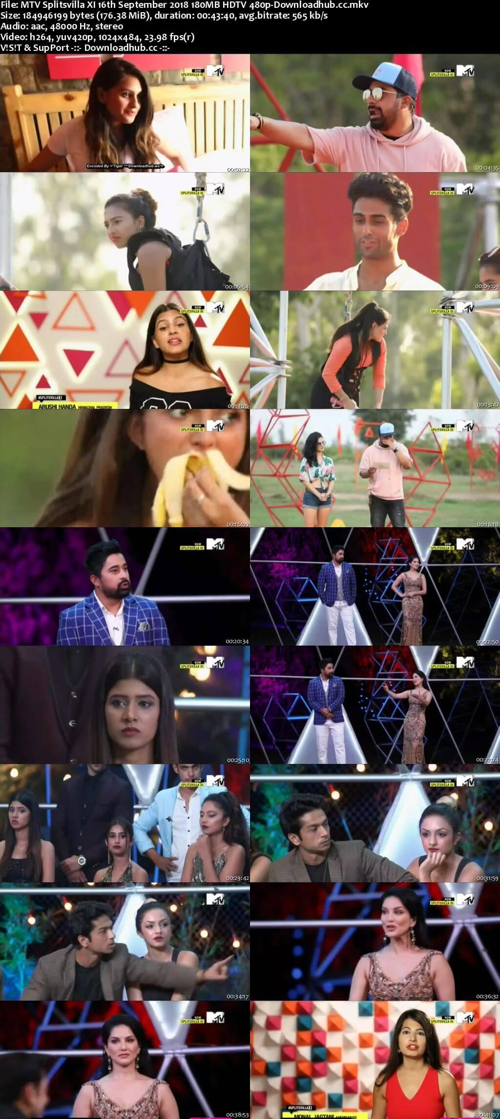 MTV Splitsvilla XI 16th September 2018 180MB HDTV 480p