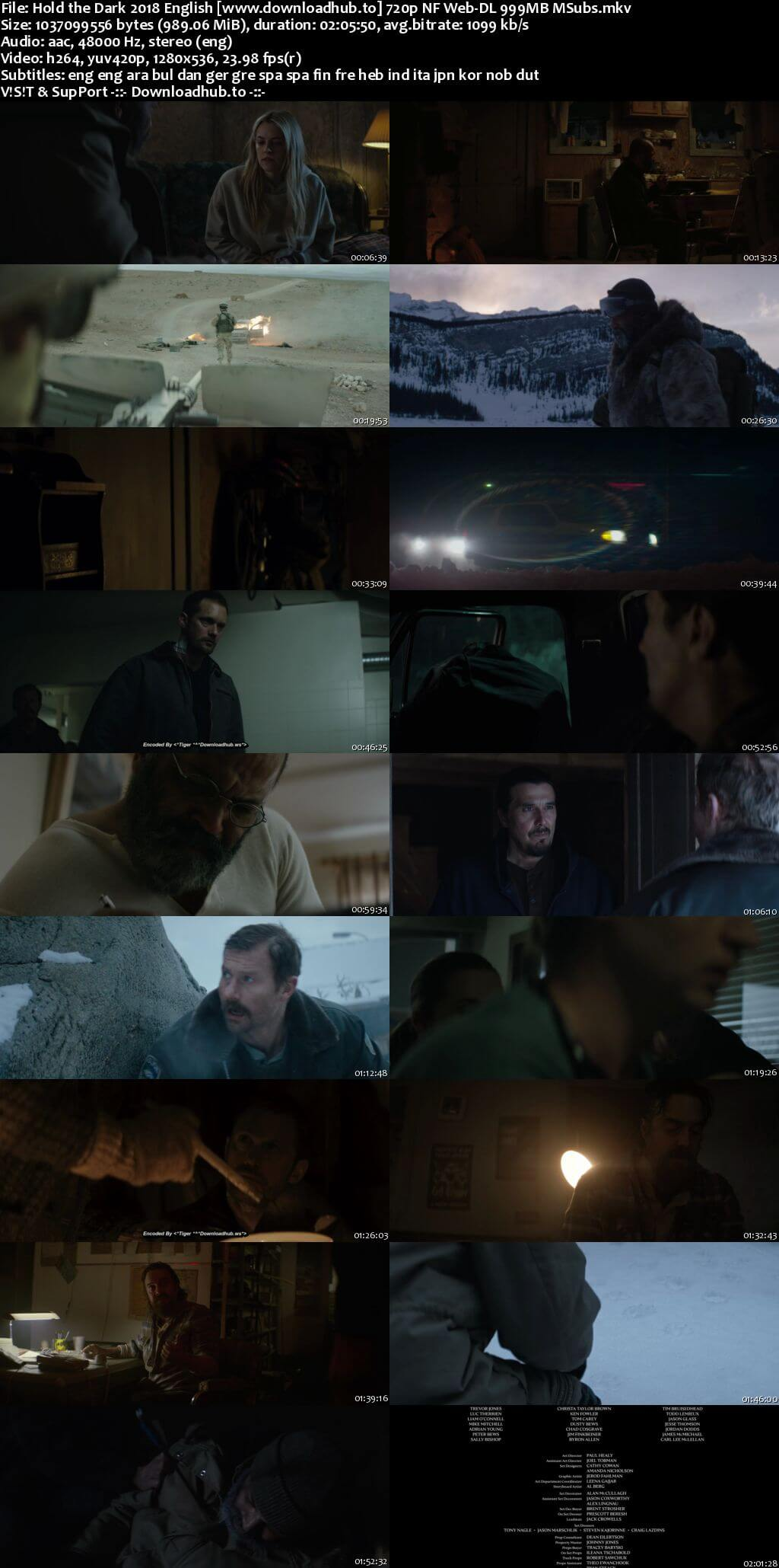 Hold the Dark 2018 English 720p NF Web-DL 999MB MSubs