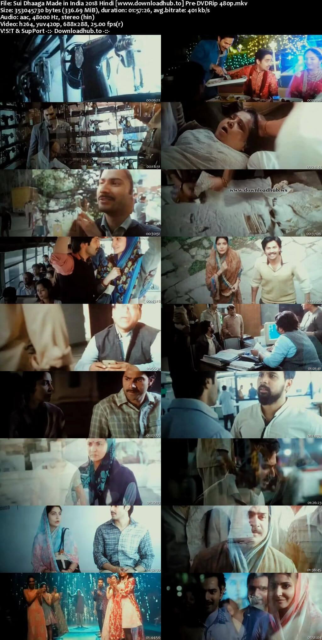 Sui Dhaaga 2018 Hindi 300MB Pre-DVDRip 480p