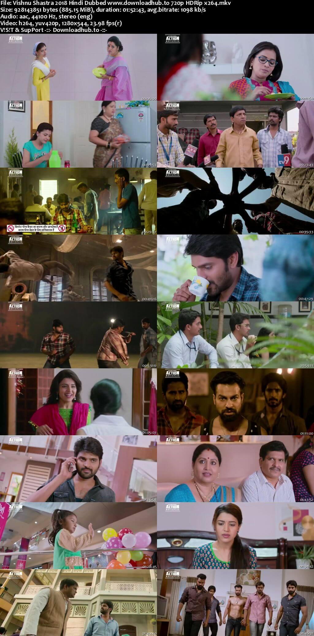 Vishnu Shastra 2018 Hindi Dubbed 720p HDRip x264