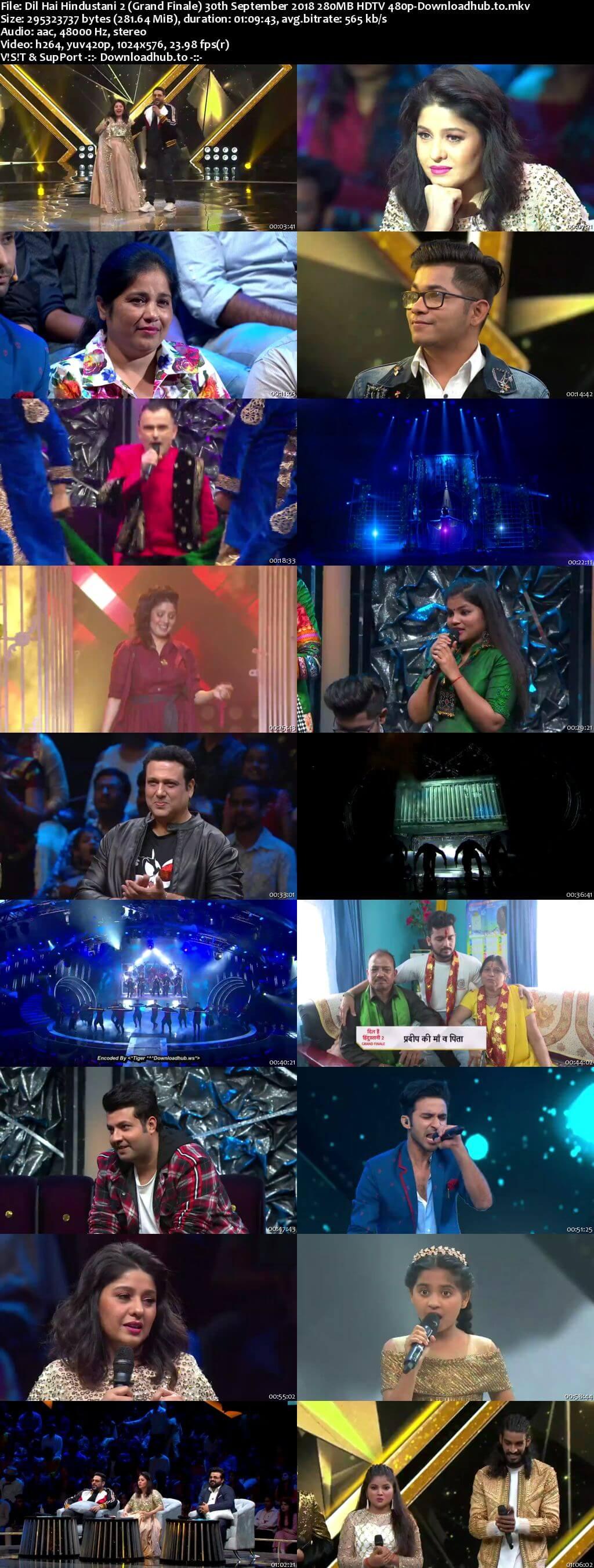 Dil Hai Hindustani 2 30 September 2018 Grand Finale Episode HDTV 480p