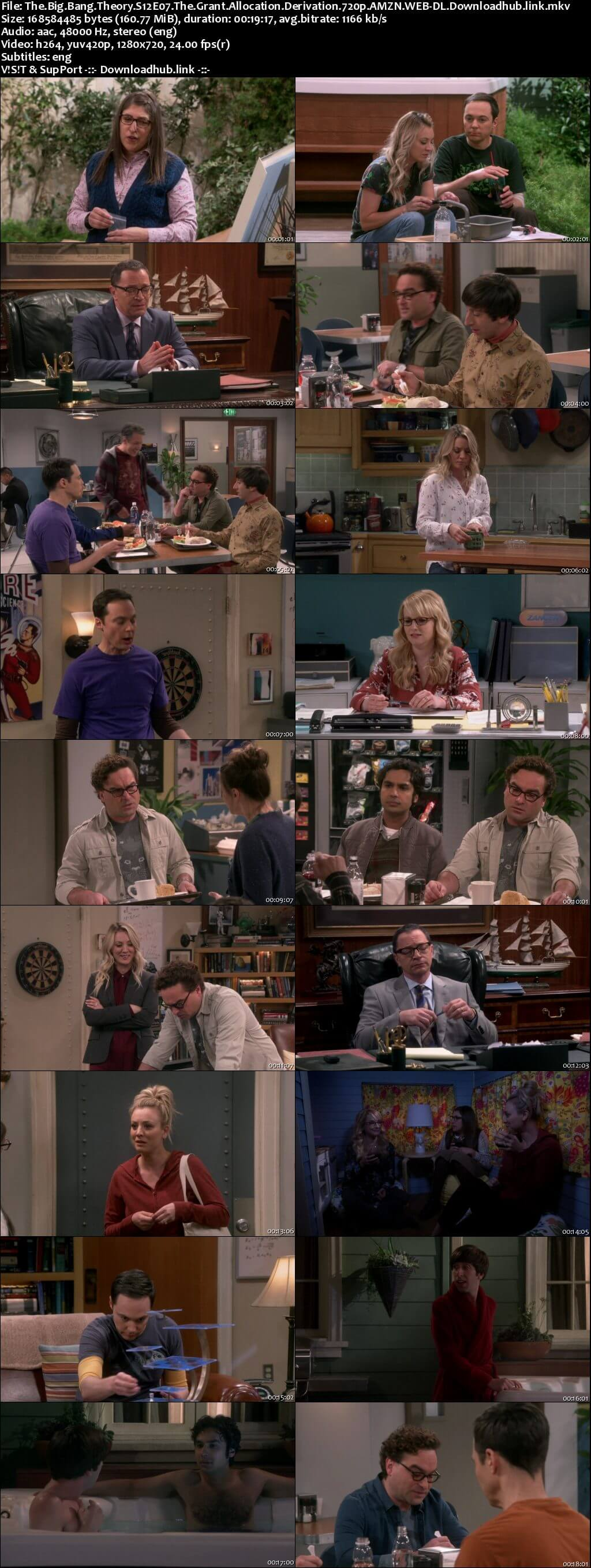 The Big Bang Theory S12E07 160MB AMZN WEB-DL 720p ESubs