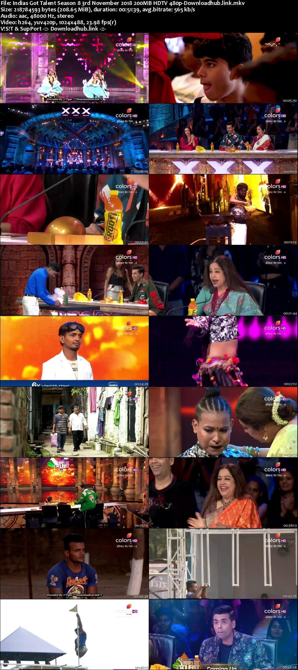 Indias Got Talent Season 8 03 November 2018 Episode 05 HDTV 480p