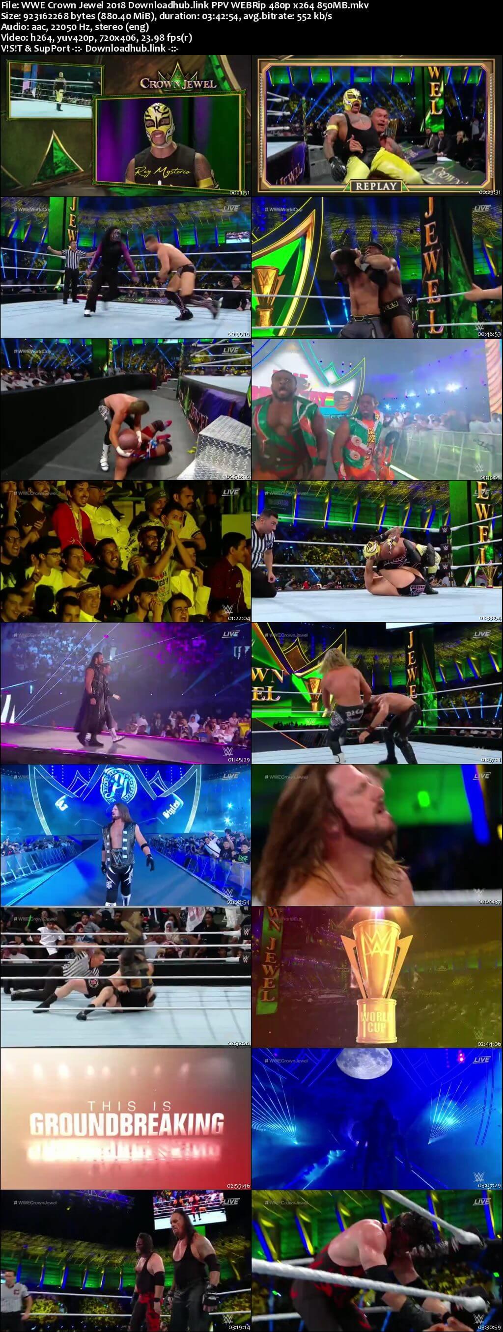 WWE Crown Jewel 2nd November 2018 850MB PPV WEBRip 480p