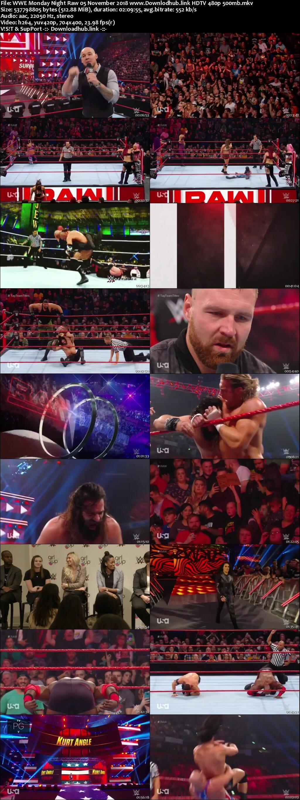 WWE Monday Night Raw 5th November 2018 500MB HDTVRip 480p