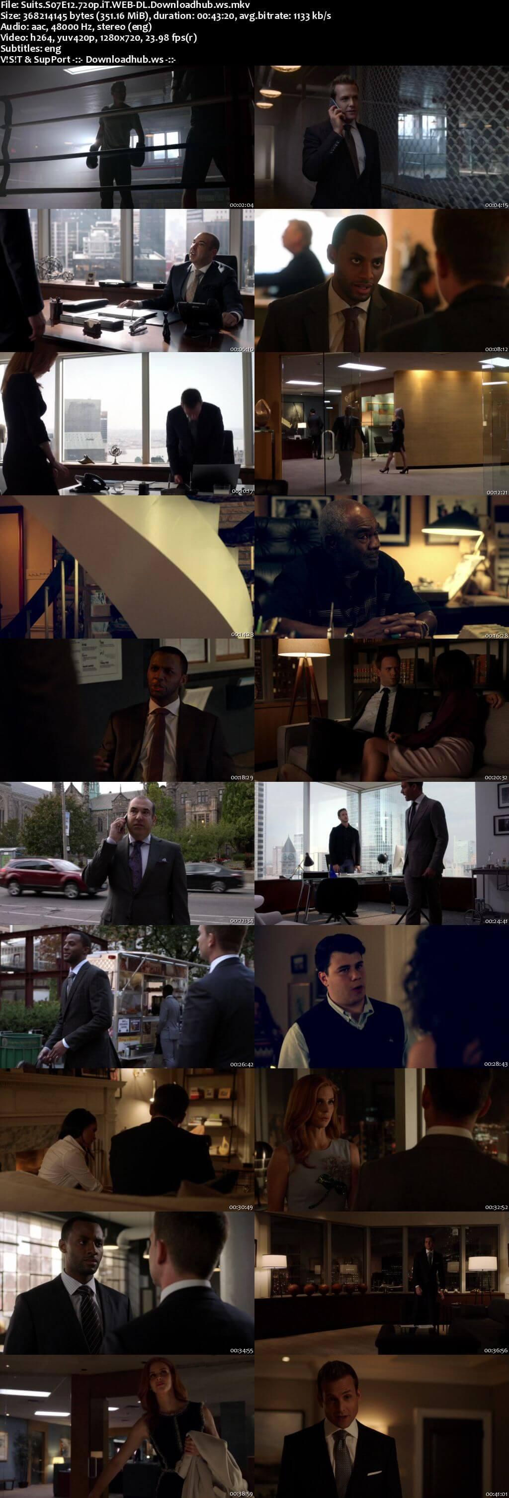Suits S07E12 350MB Web-DL 720p ESubs