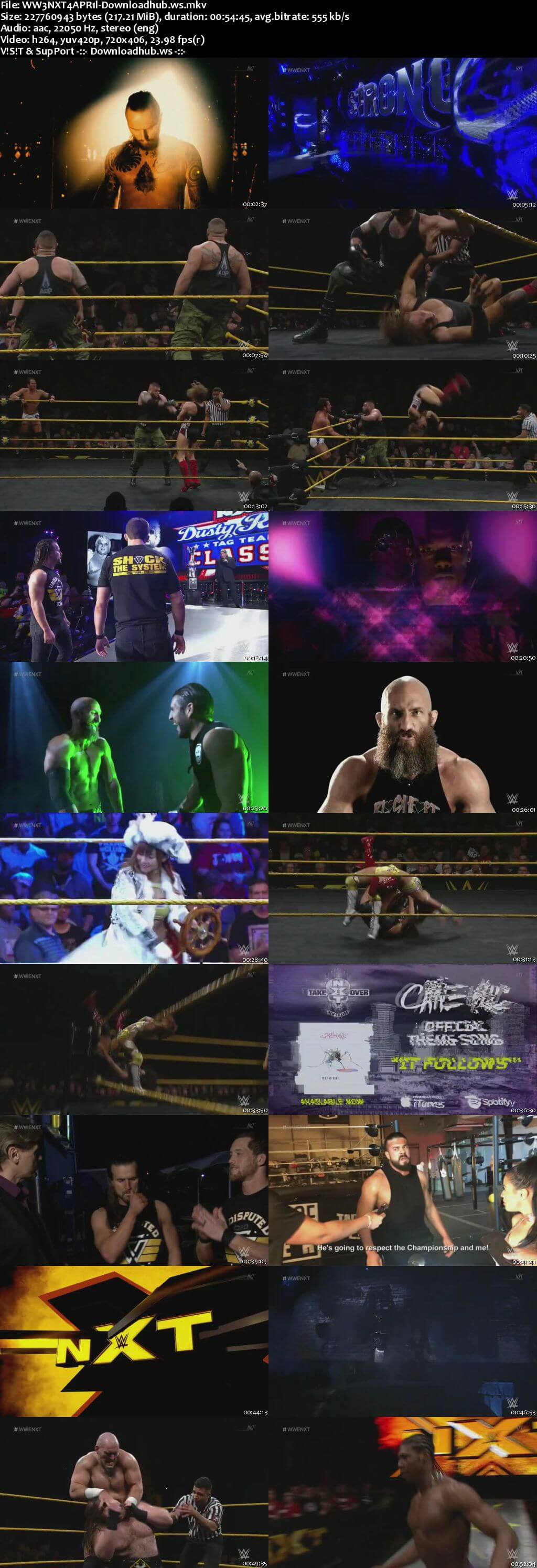 WWE NXT 04 April 2018 480p HDTV Download