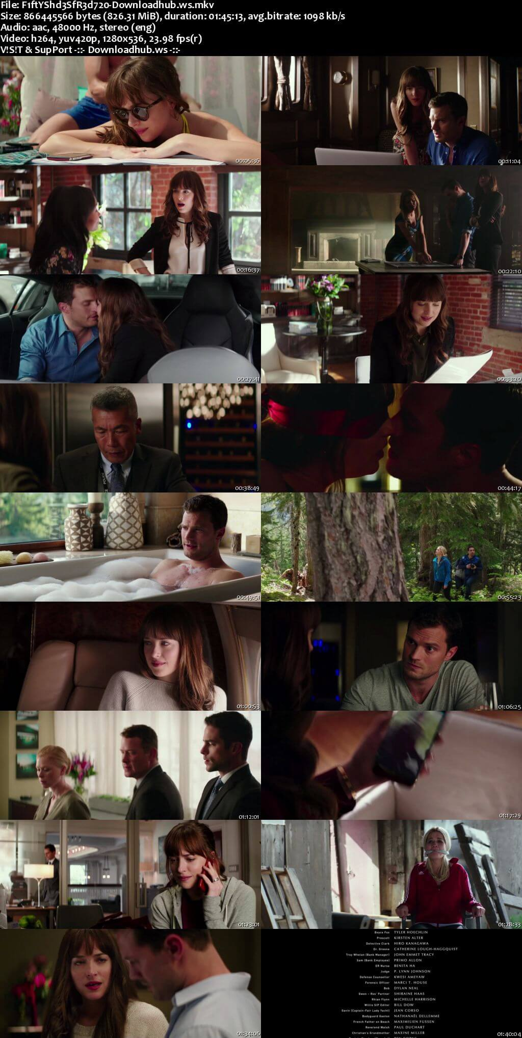 Fifty Shades Freed 2018 English 720p WEBRip 800MB