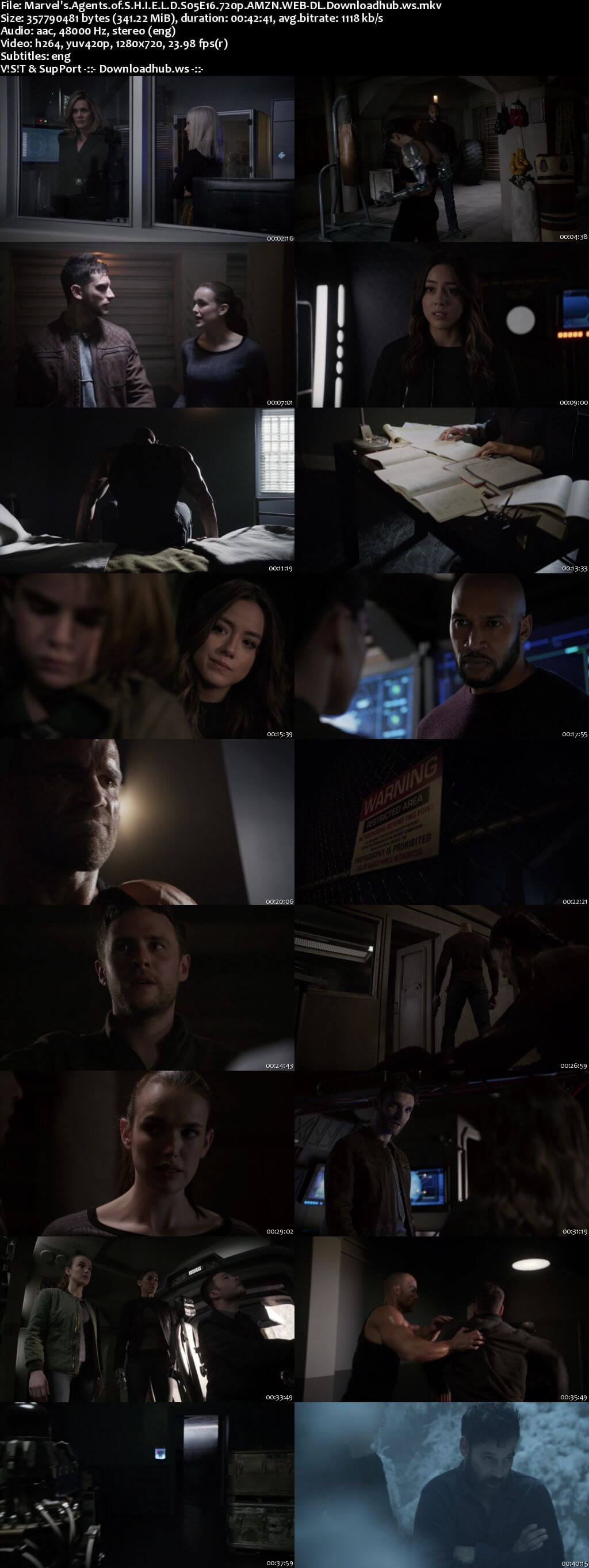 Marvels Agents of S.H.I.E.L.D S05E16 340MB Web-DL 720p x264 ESubs
