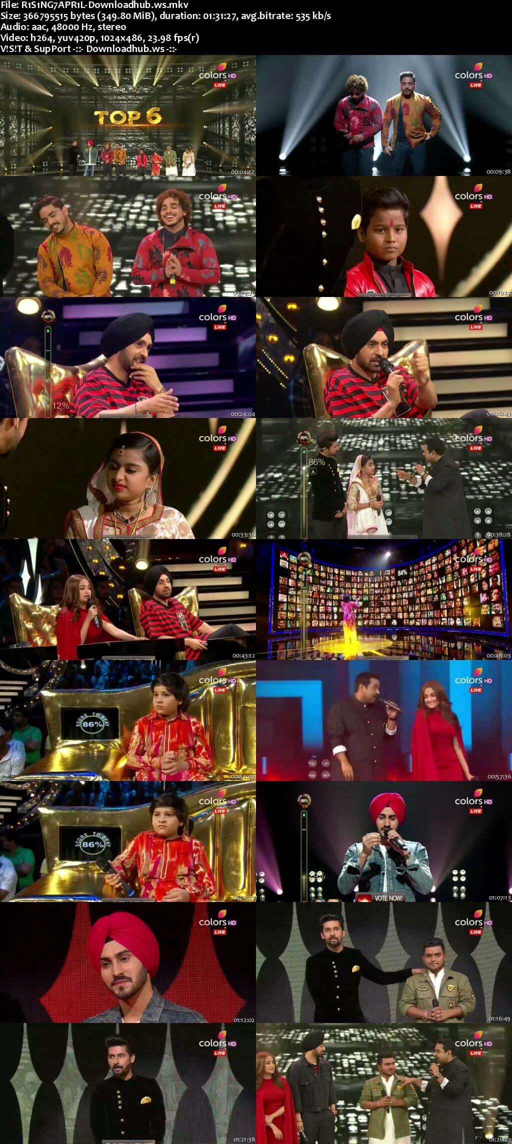 Rising Star Season 2 07 April 2018 Episode 22 HDTV 480p