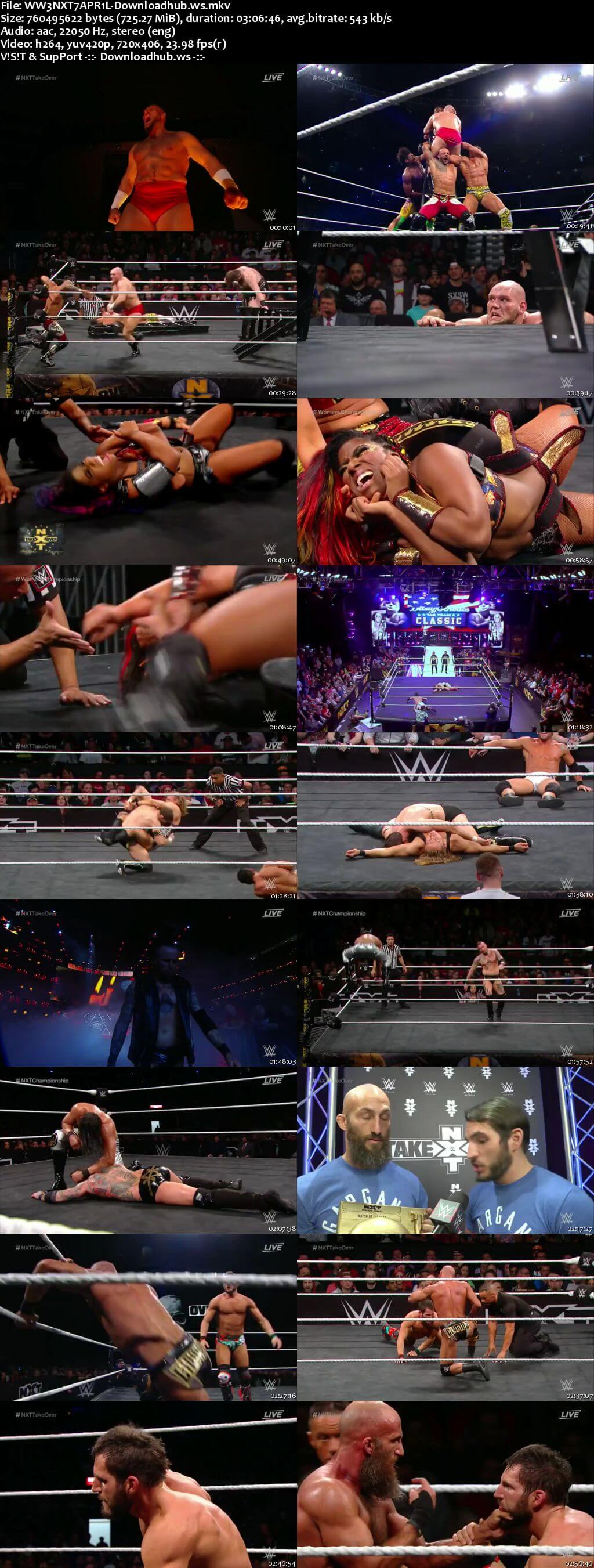 WWE NXT TakeOver New Orleans 07 April 2018 480p HDTV Download