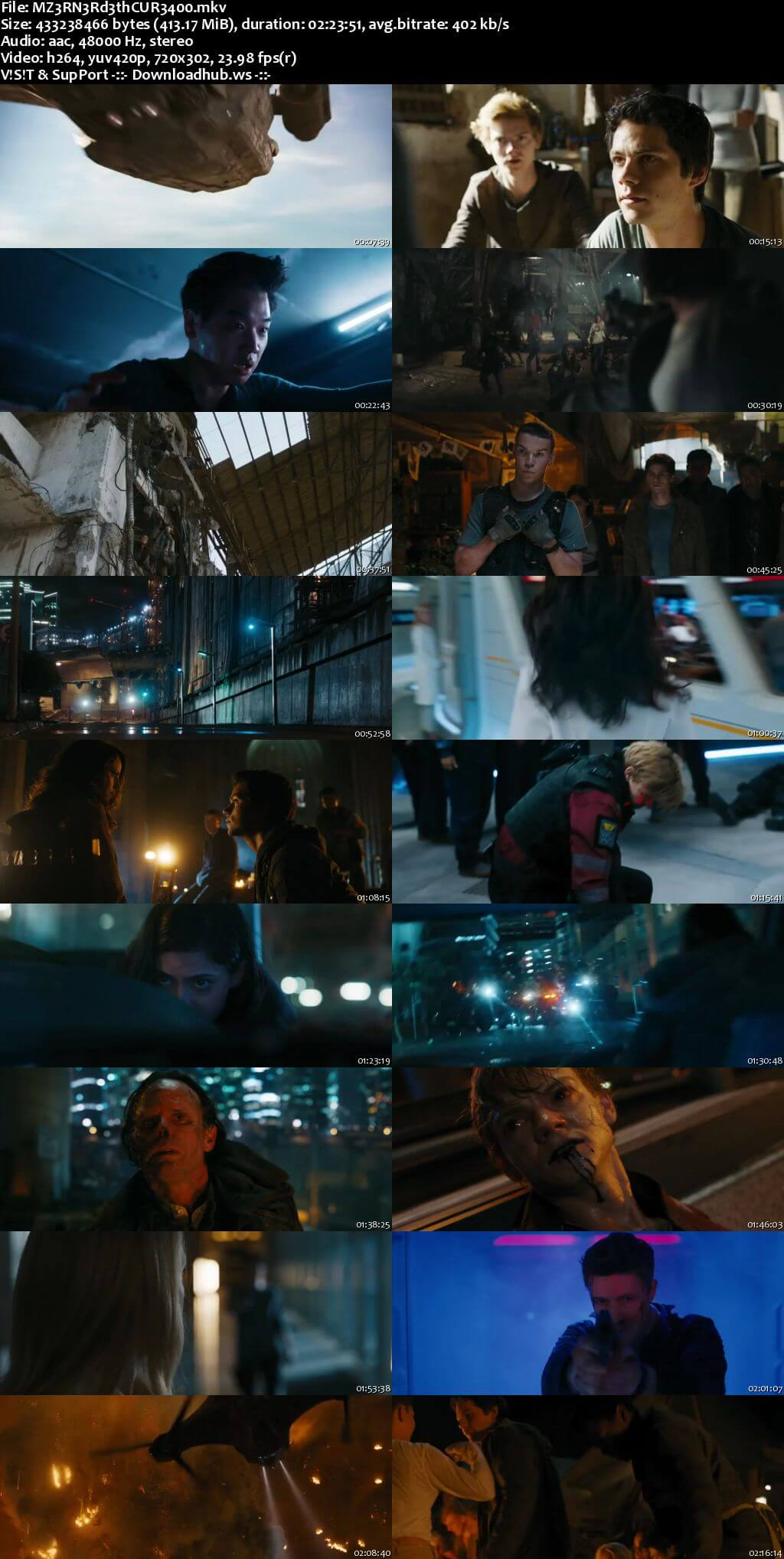 Maze Runner The Death Cure 2018 English 480p Web-DL