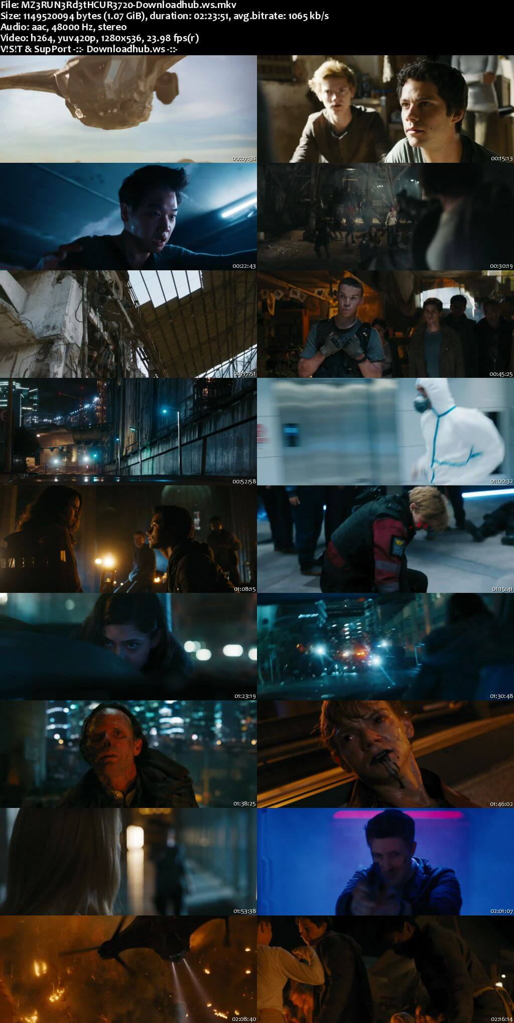 Maze Runner The Death Cure 2018 English 720p Web-DL 1.1GB