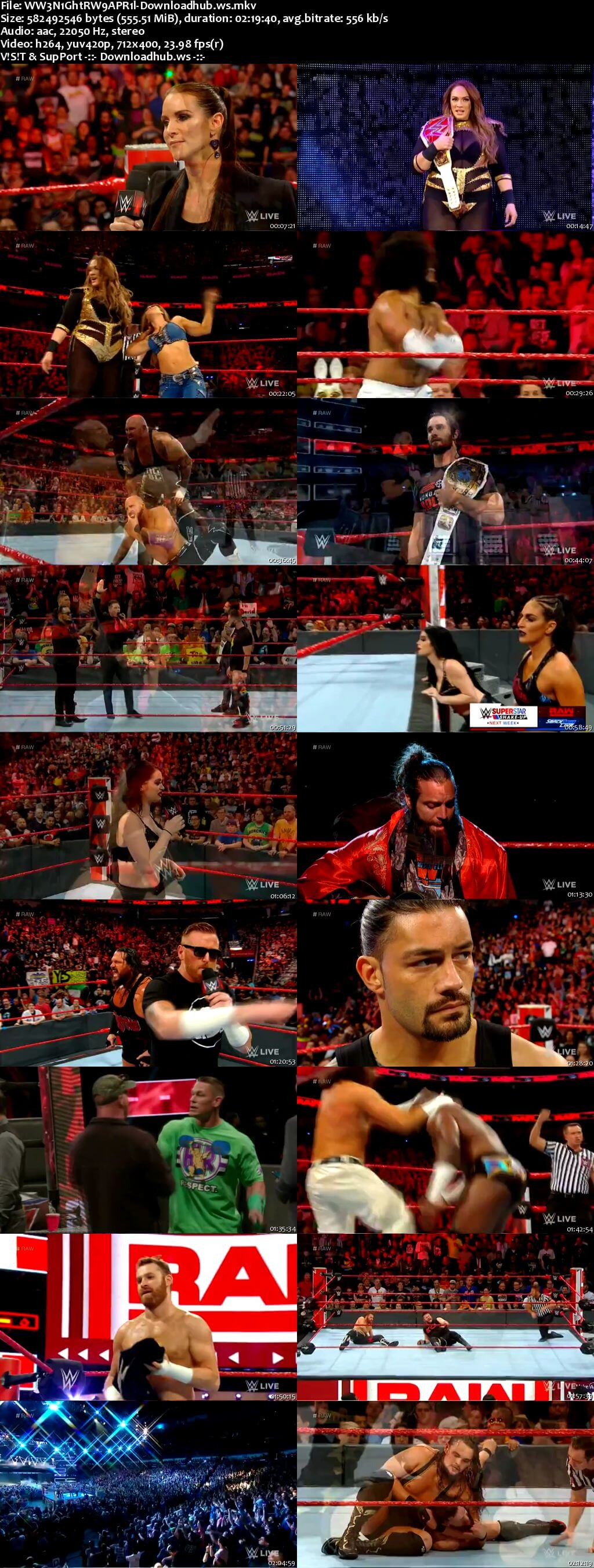WWE Monday Night Raw 07 April 2018 480p HDTV Download