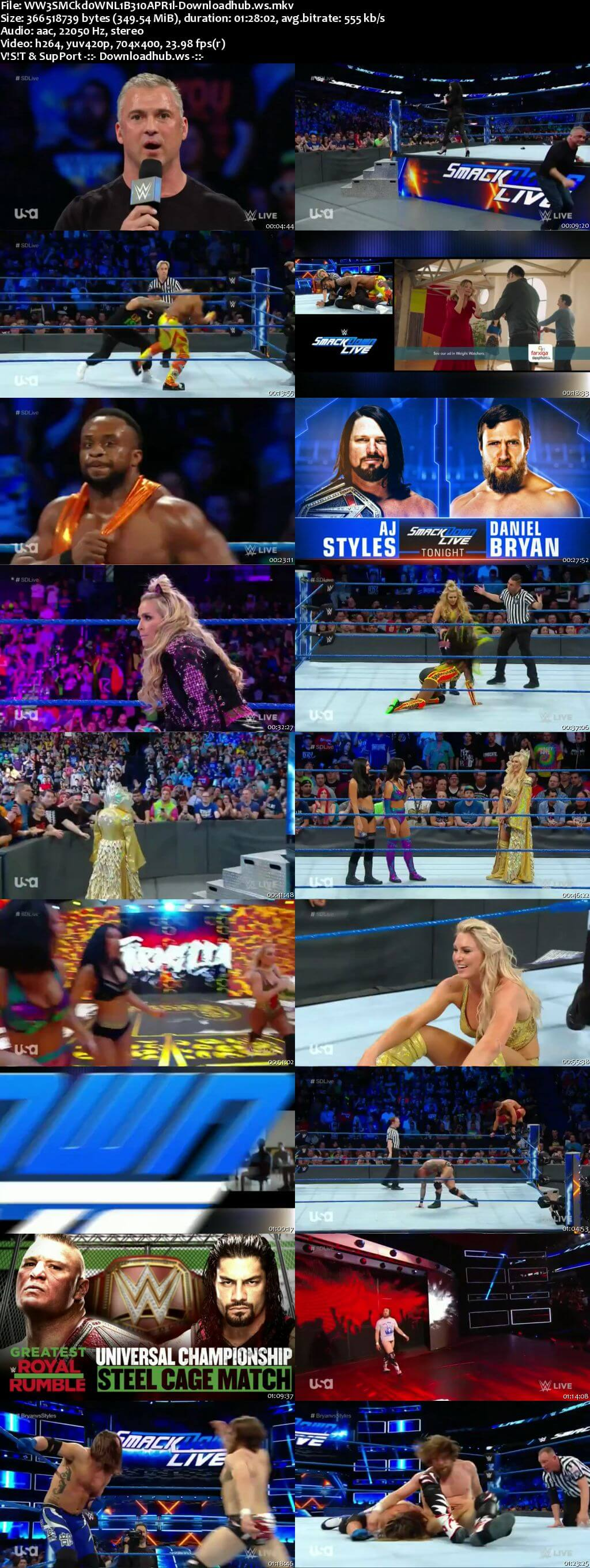 WWE Smackdown Live 10 April 2018 480p HDTV Download