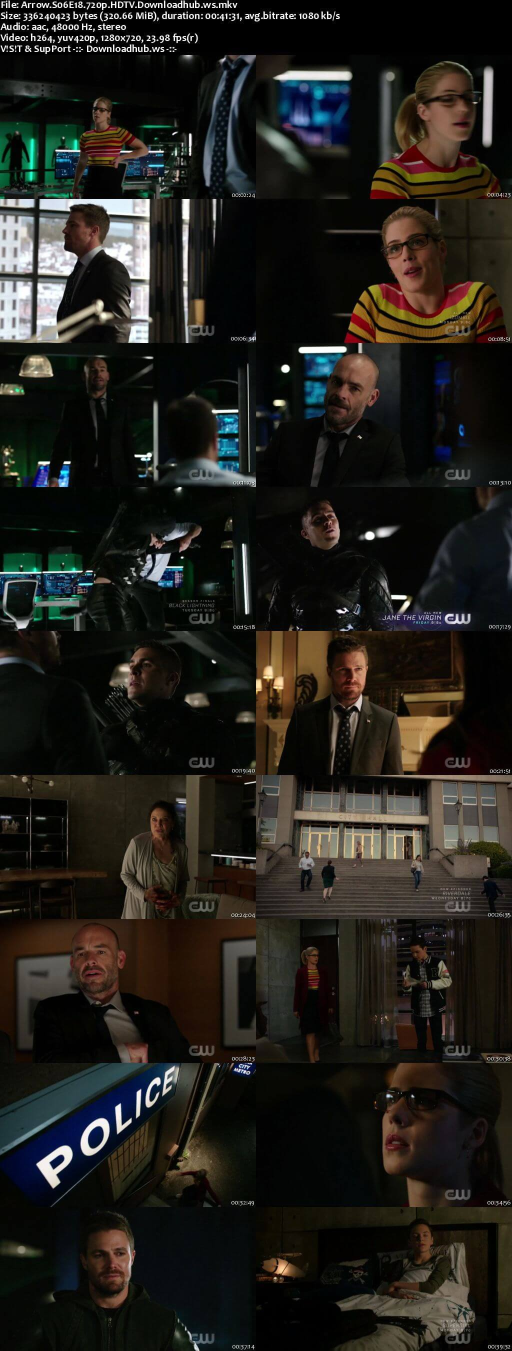 Arrow S06E18 320MB HDTV 720p x264