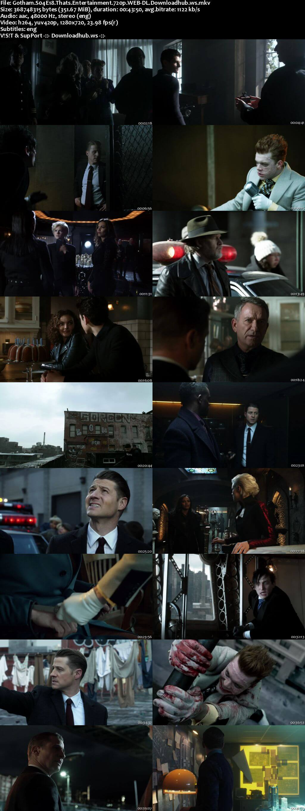 Gotham S04E18 350MB Web-DL 720p x264 ESubs