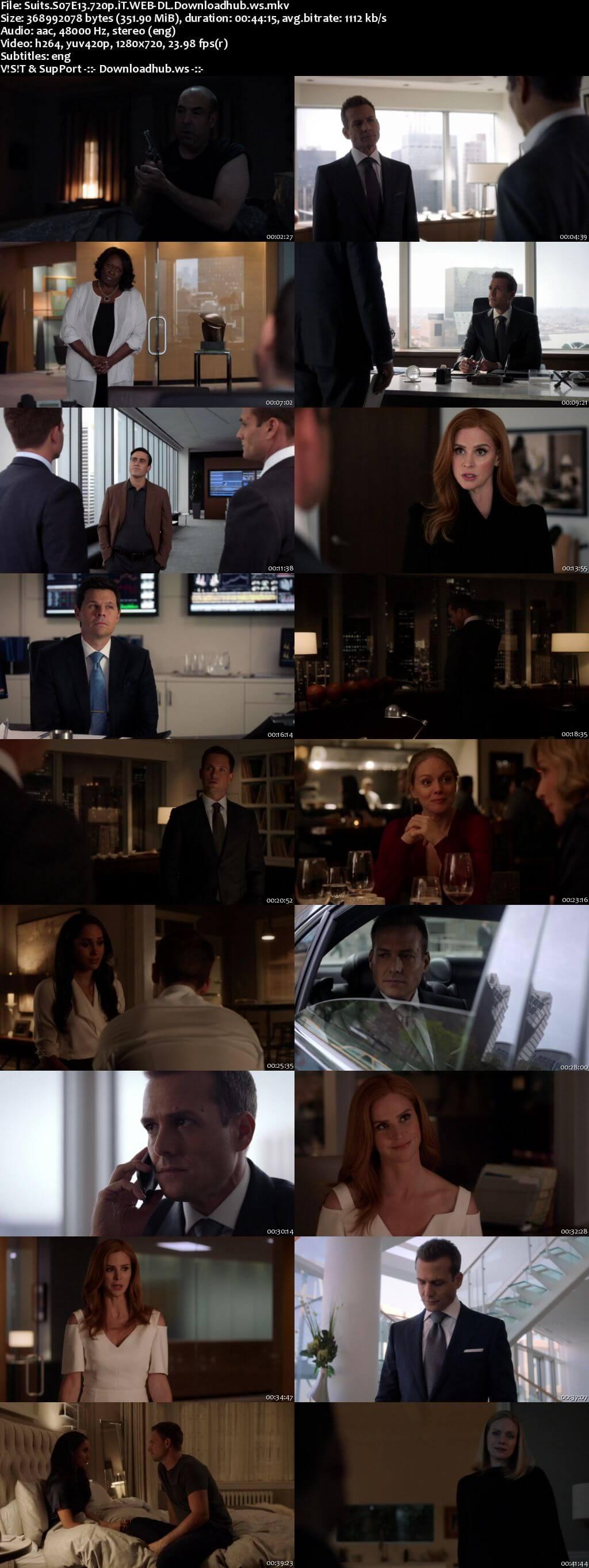 Suits S07E13 350MB Web-DL 720p ESubs