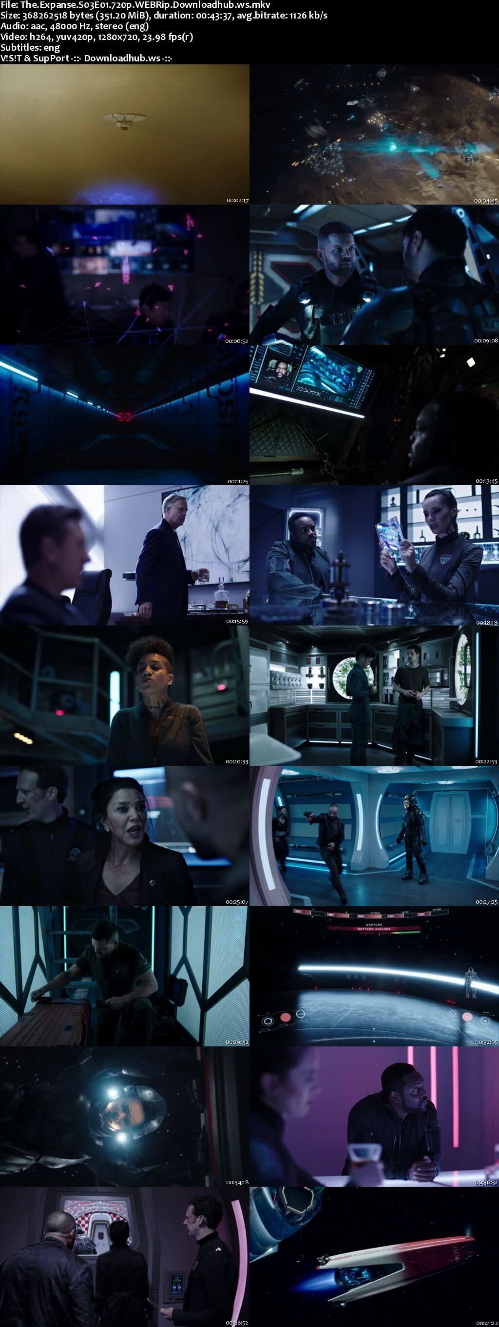 The Expanse S03E01 350MB WEBRip 720p x264 ESubs