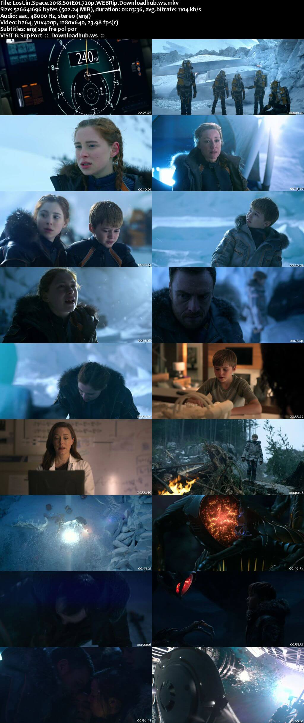 Lost in Space S01 Complete 720p NF Web-DL MSubs