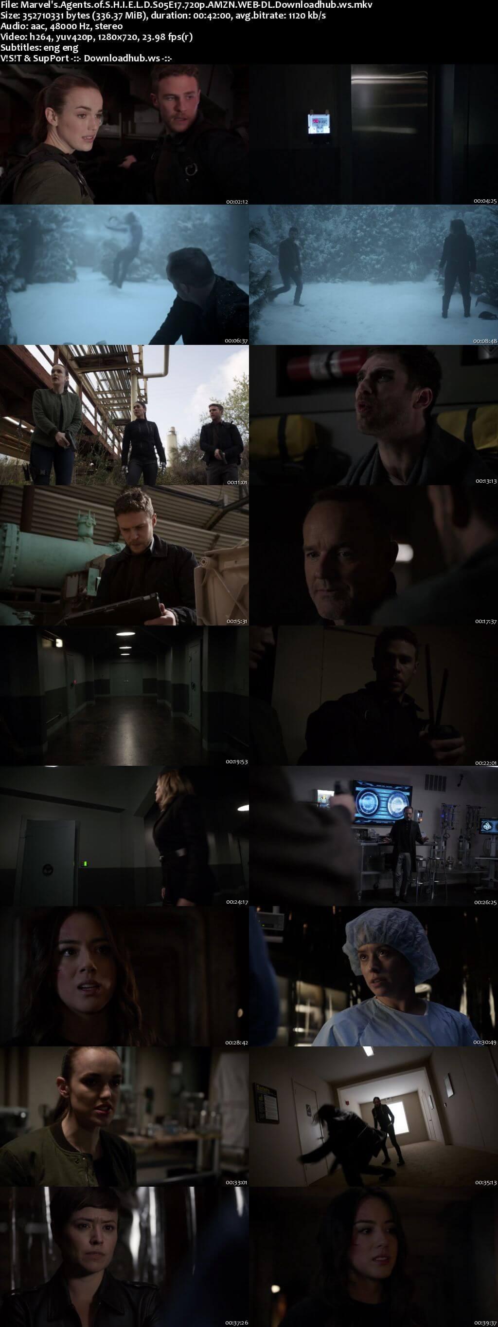 Marvels Agents of S.H.I.E.L.D S05E17 340MB Web-DL 720p x264 ESubs