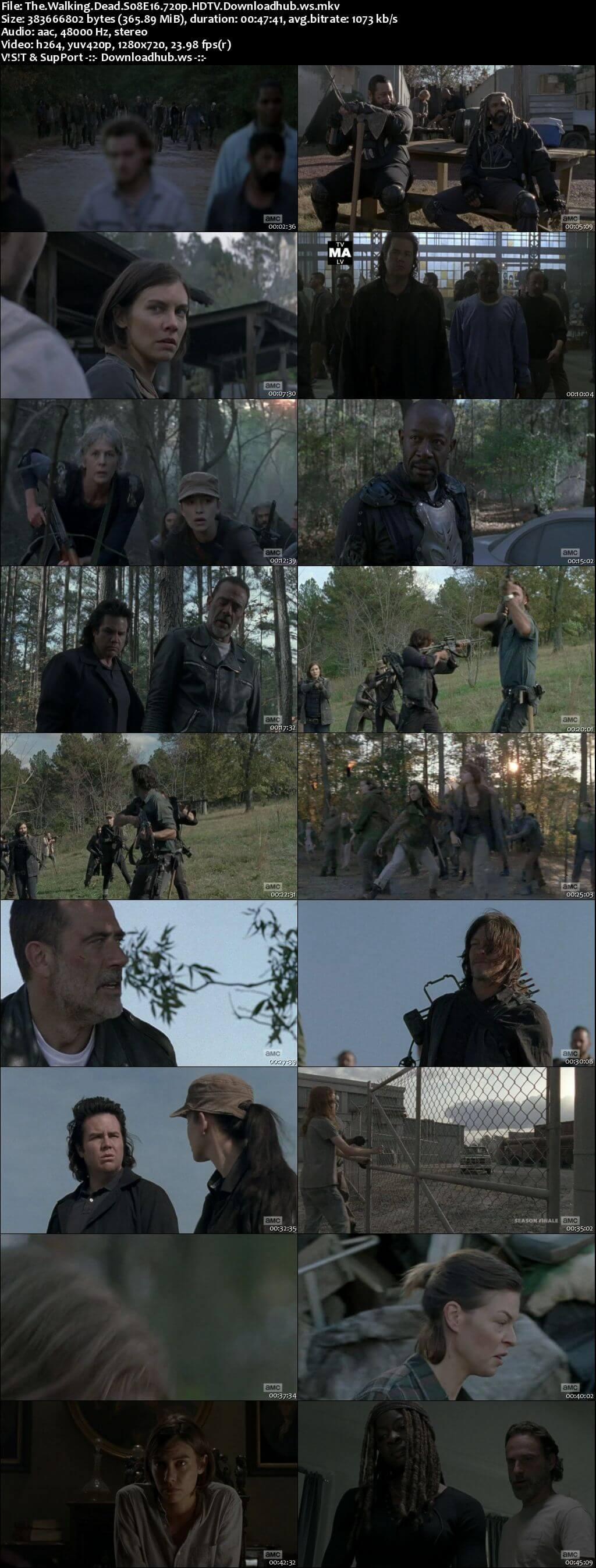 The Walking Dead S08E16 350MB HDTV 720p x264