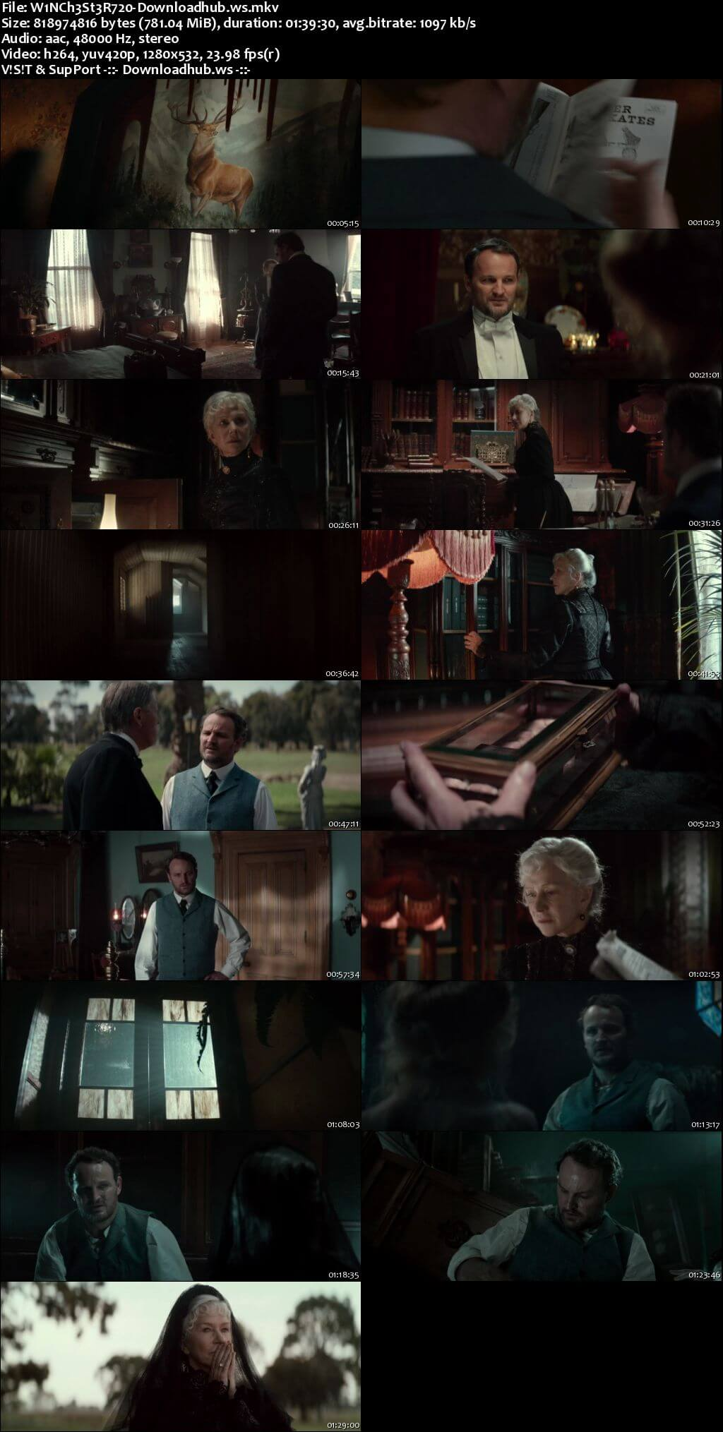 Winchester 2018 English 720p Web-DL 750MB ESubs
