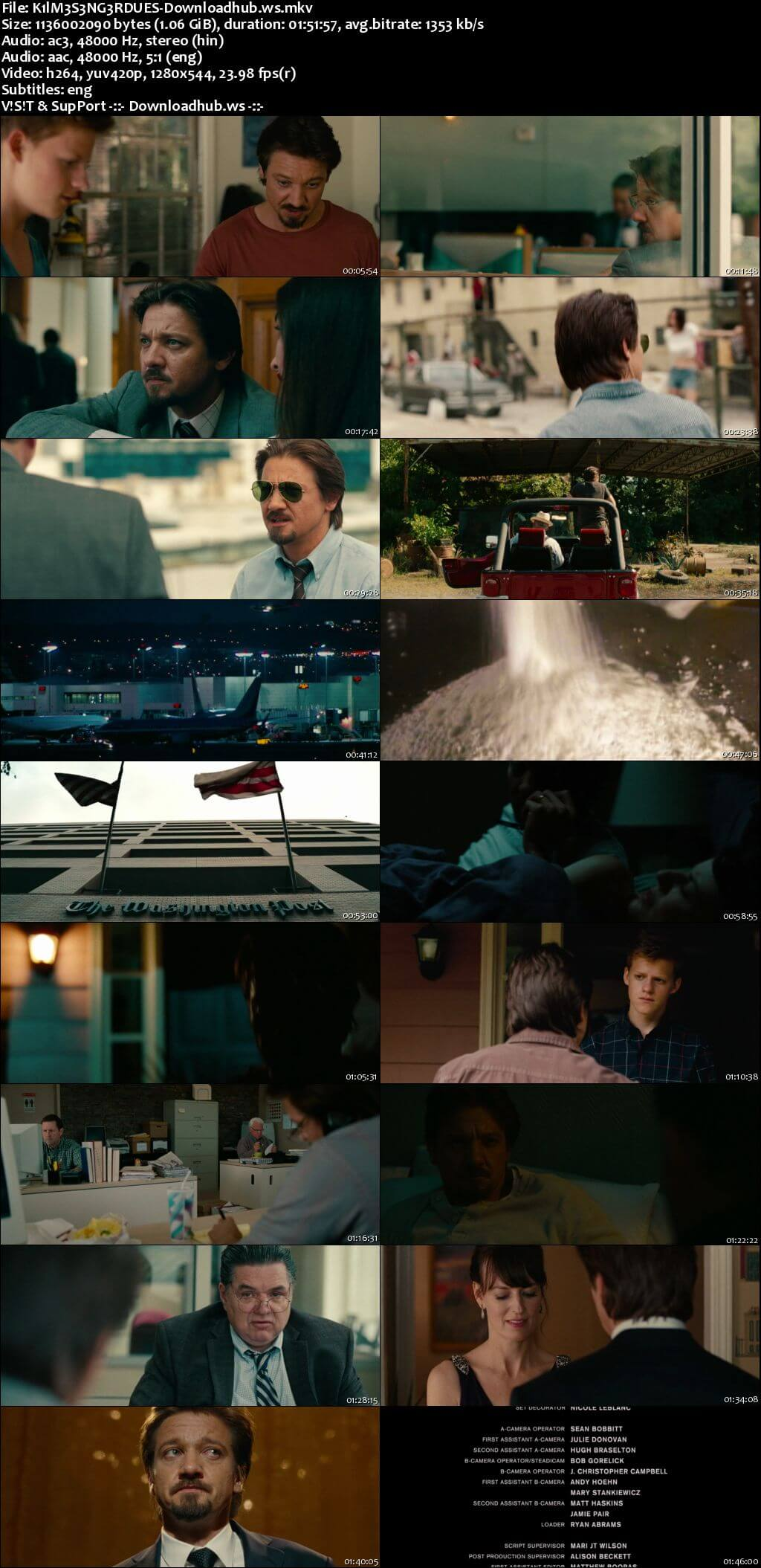 Kill the Messenger 2014 Hindi Dual Audio HDRip 720p Download