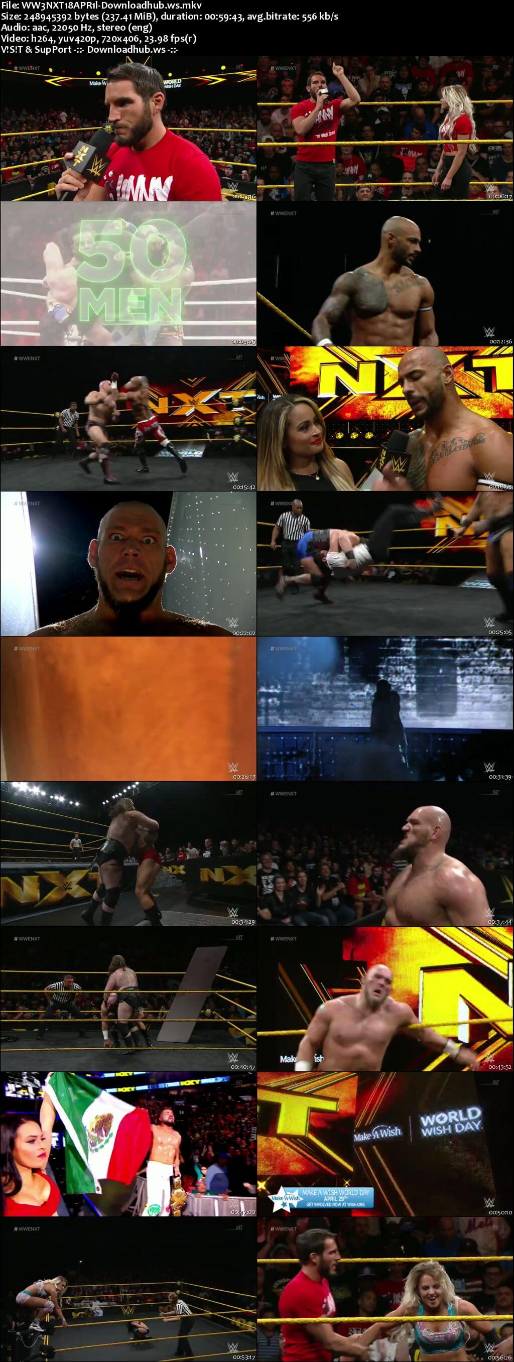 WWE NXT 18 April 2018 480p HDTV Download