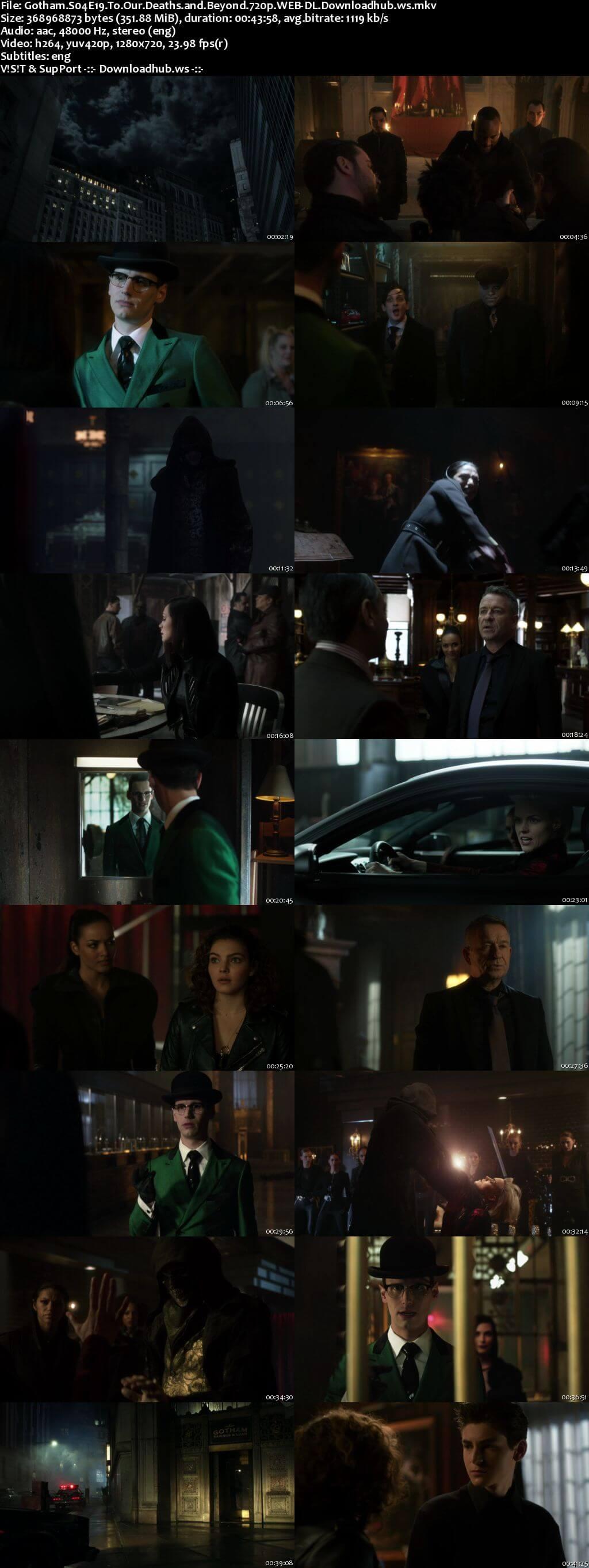 Gotham S04E19 350MB Web-DL 720p x264 ESubs