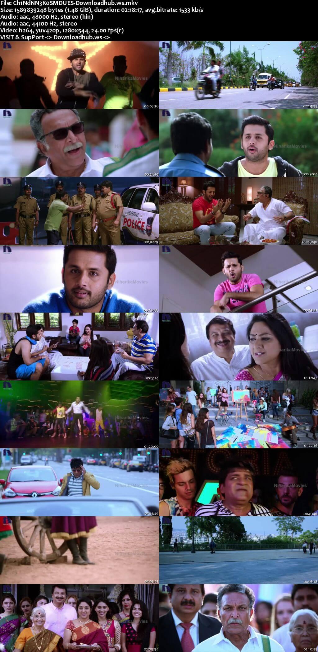 Chinnadana Nee Kosam 2014 UNCUT Hindi Dual Audio 720p HDRip Free Download
