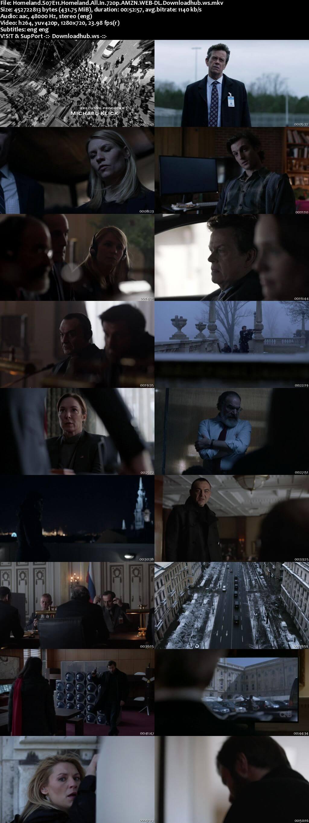 Homeland S07E11 400MB WEB-DL 720p ESubs