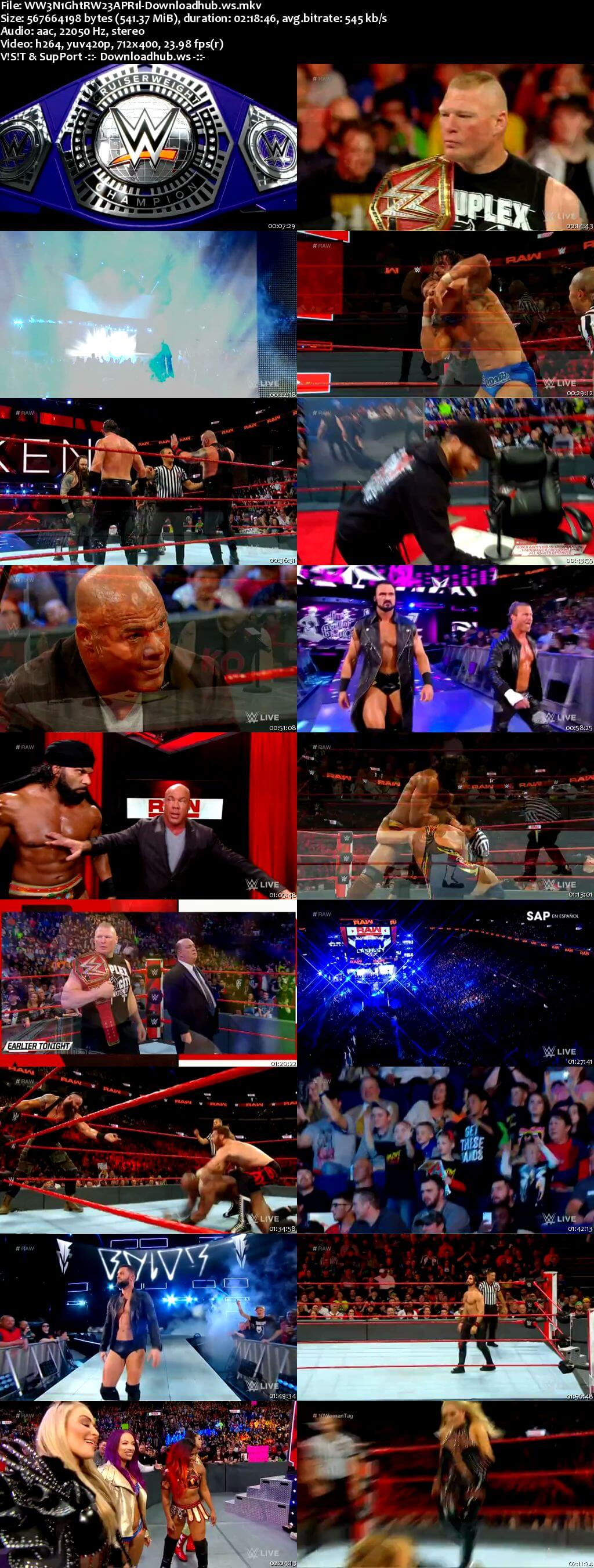 WWE Monday Night Raw 23 April 2018 480p HDTV Download
