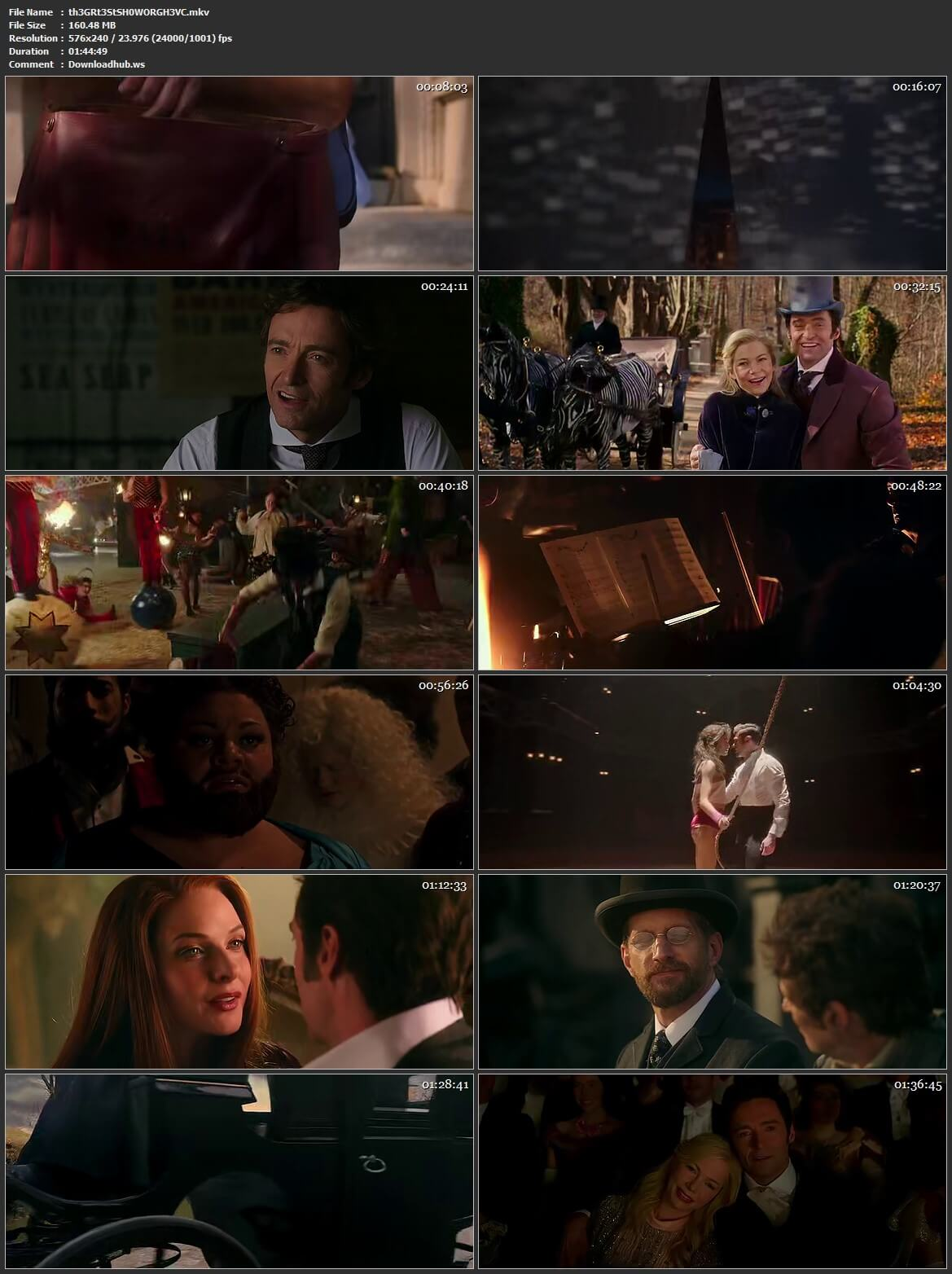 The Greatest Showman 2017 Hindi Dual Audio HEVC 480p BluRay Free Download