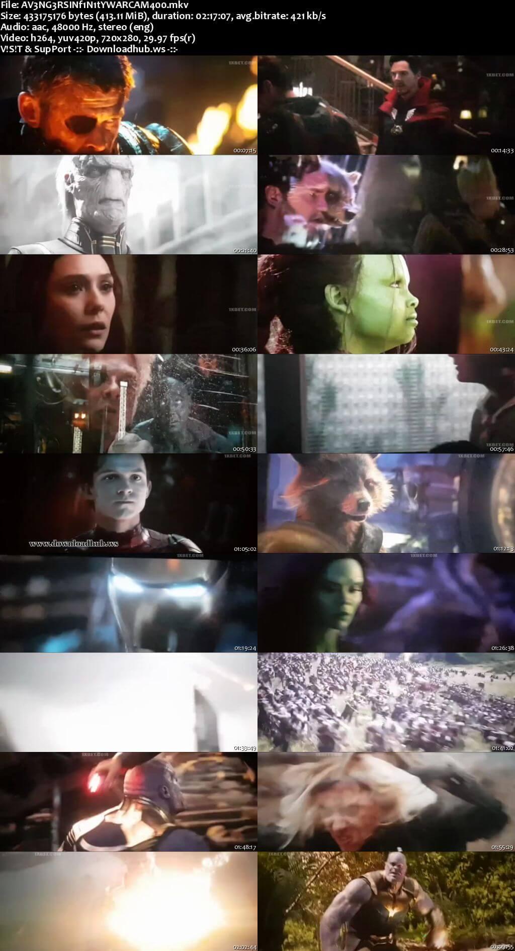 Avengers Infinity War 2018 English 480p HDCAM x264