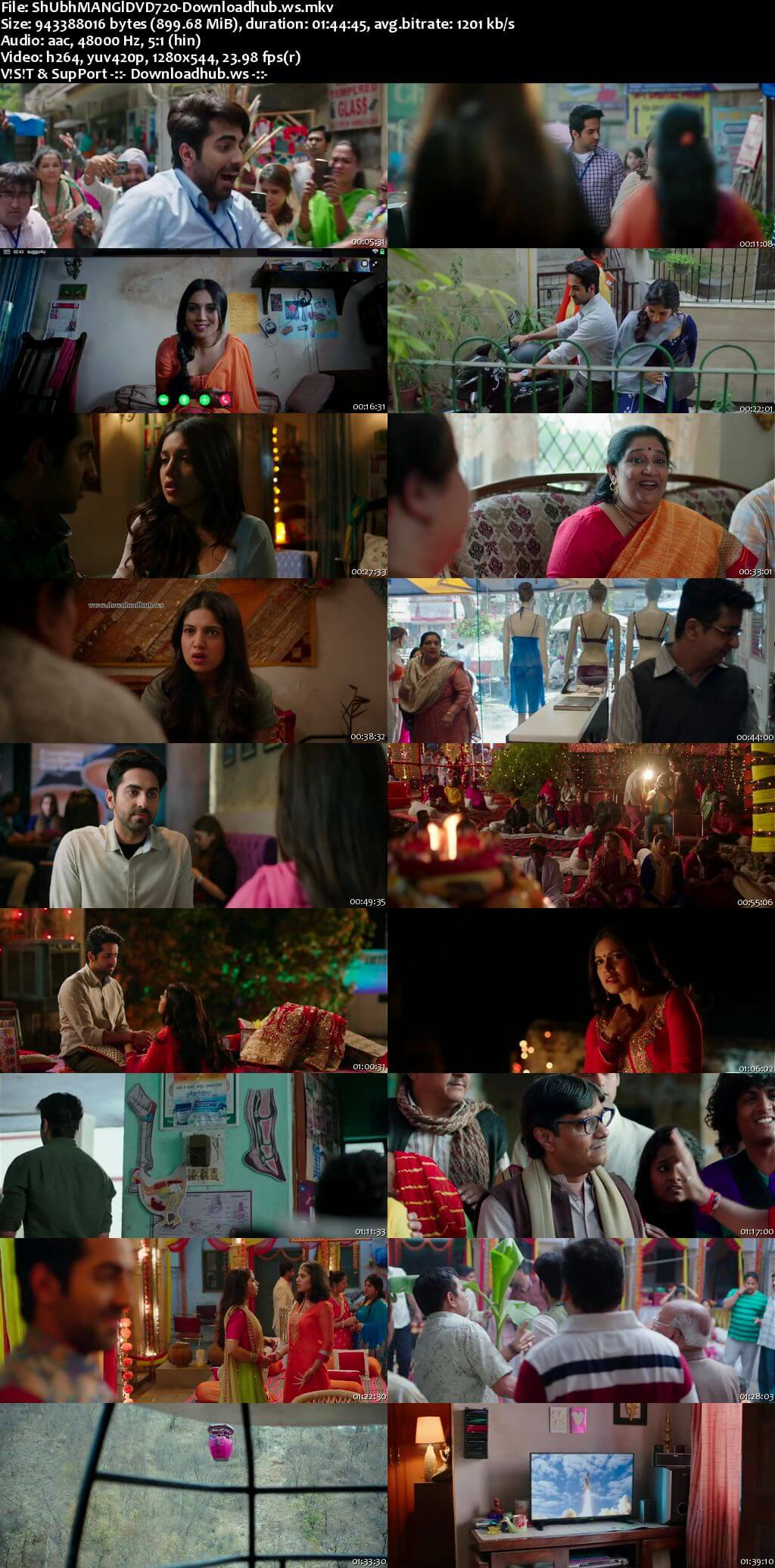 Shubh Mangal Saavdhan 2017 Hindi 720p DVDRip ESubs