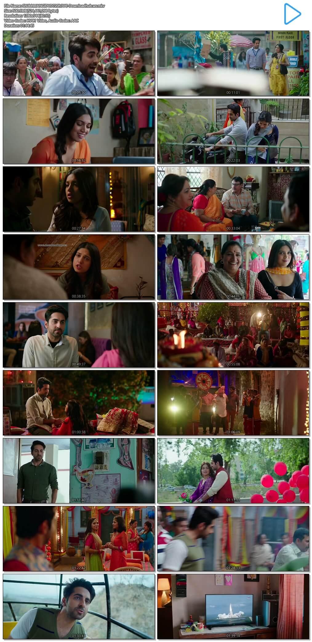 Shubh Mangal Saavdhan 2017 Hindi 720p HEVC DVDRip ESubs