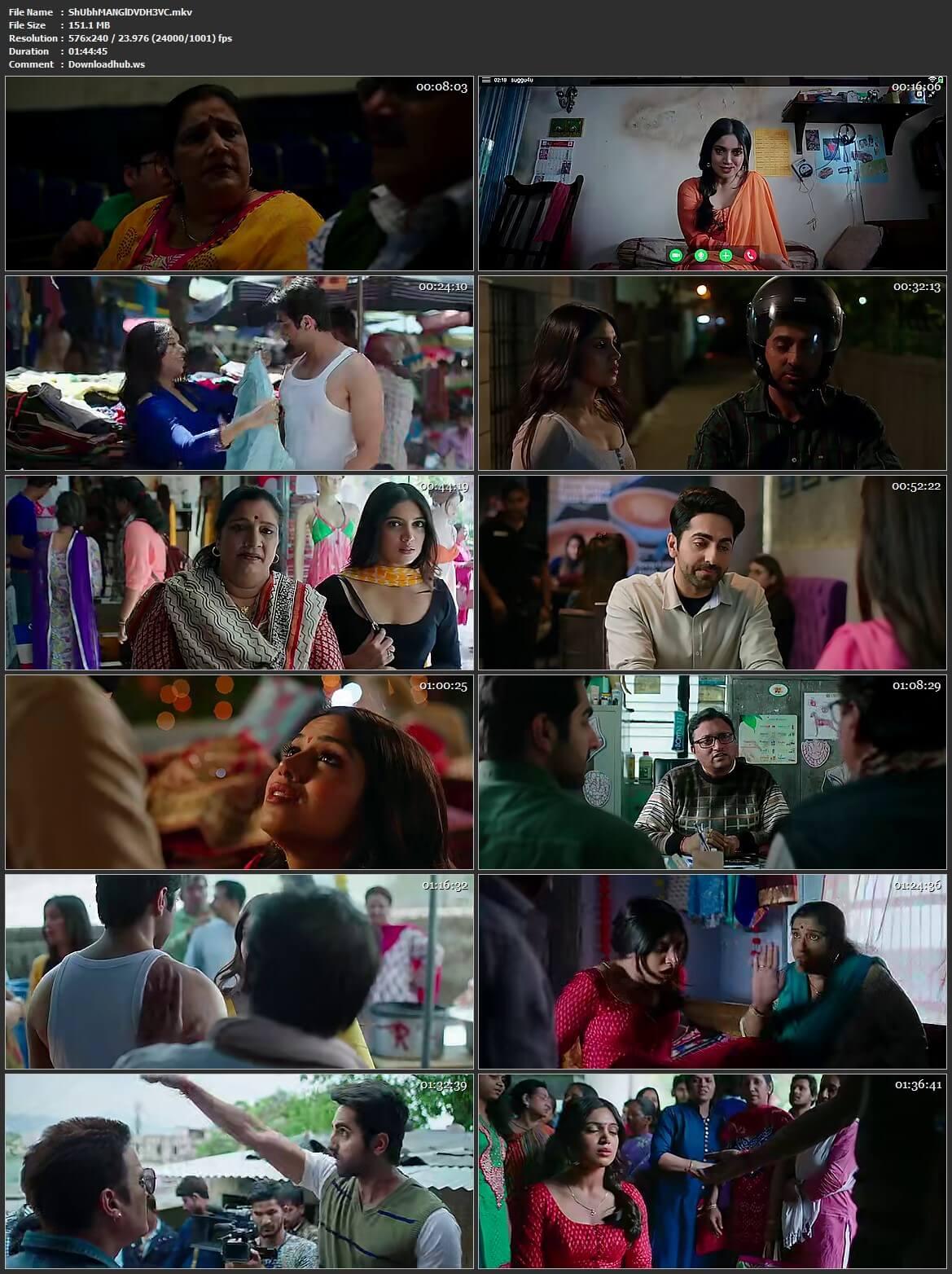Shubh Mangal Saavdhan 2017 Hindi HEVC 480p DVDRip ESubs
