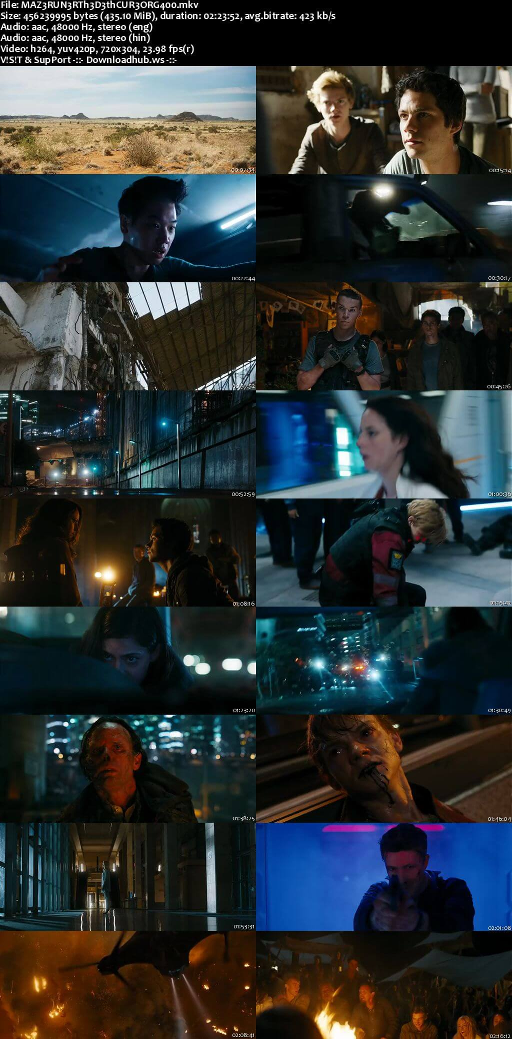 Maze Runner The Death Cure 2018 Hindi Dual Audio 480p BluRay Free Download