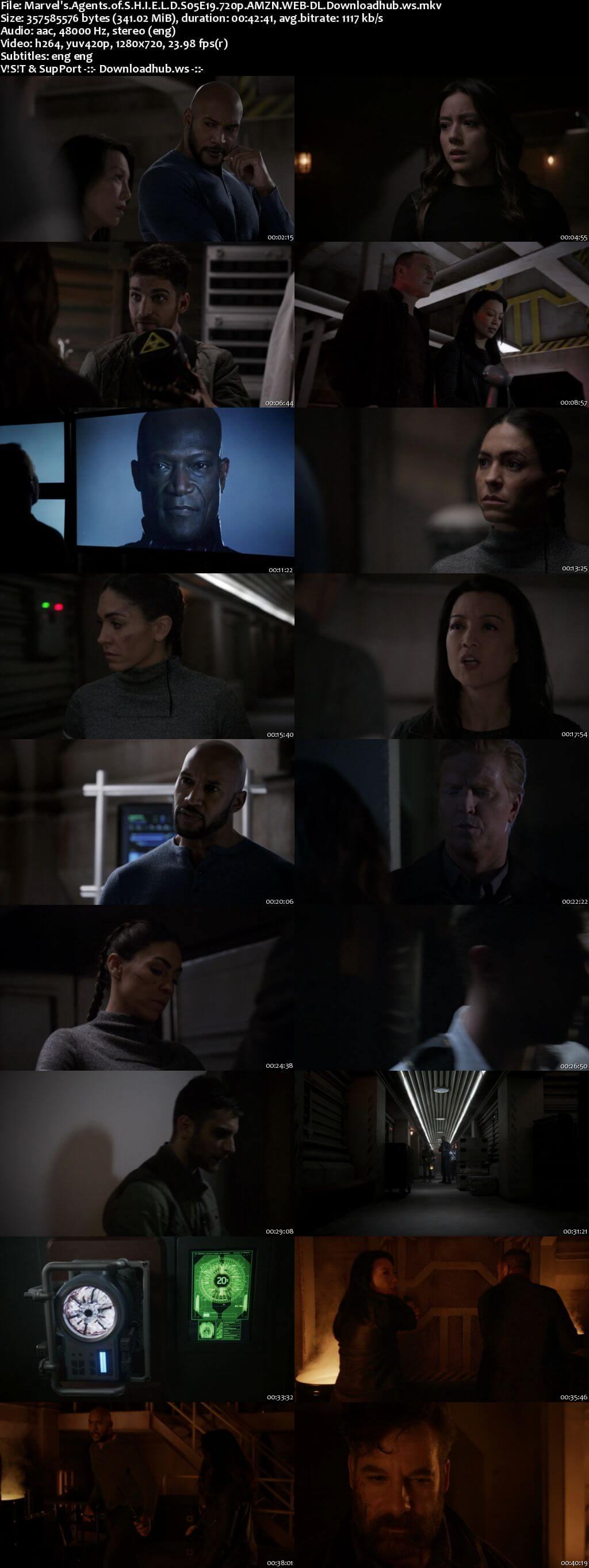 Marvels Agents of S.H.I.E.L.D S05E19 340MB Web-DL 720p x264 ESubs