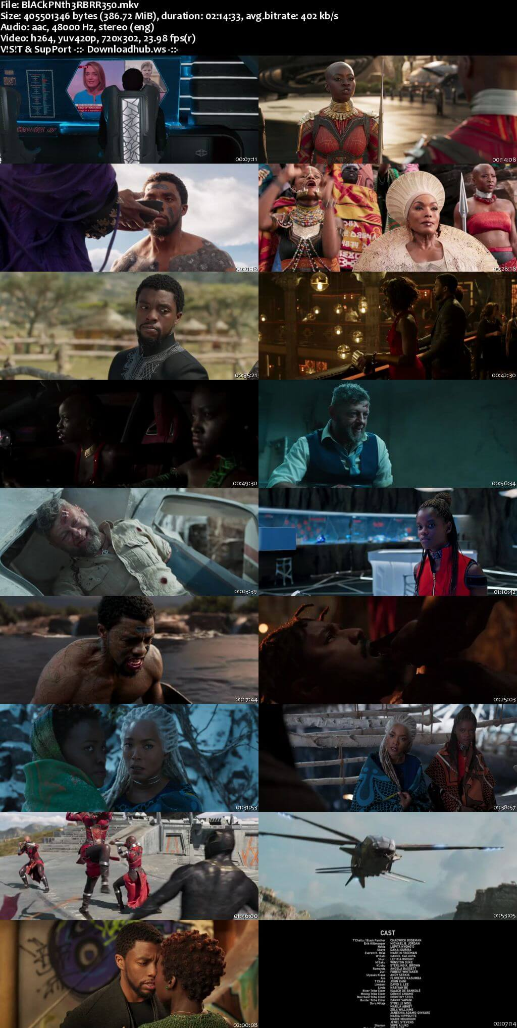 Black Panther 2018 English 480p BRRip ESubs