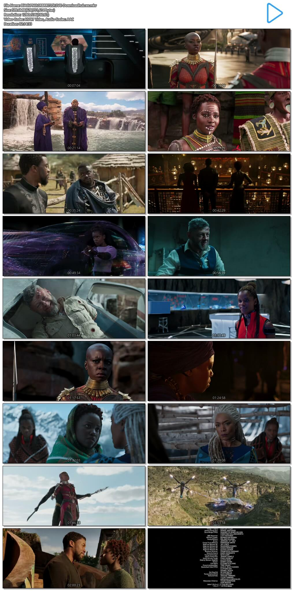 Black Panther 2018 English 720p HEVC BRRip ESubs